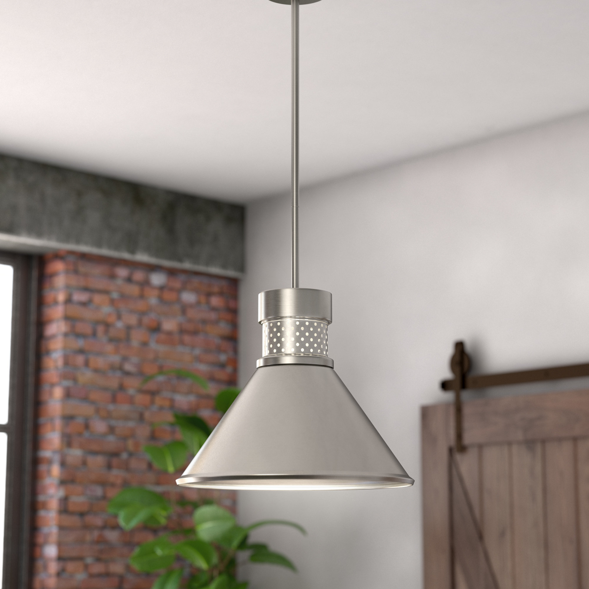 Wayfair Regarding Widely Used Guro 1 Light Cone Pendants (View 6 of 25)