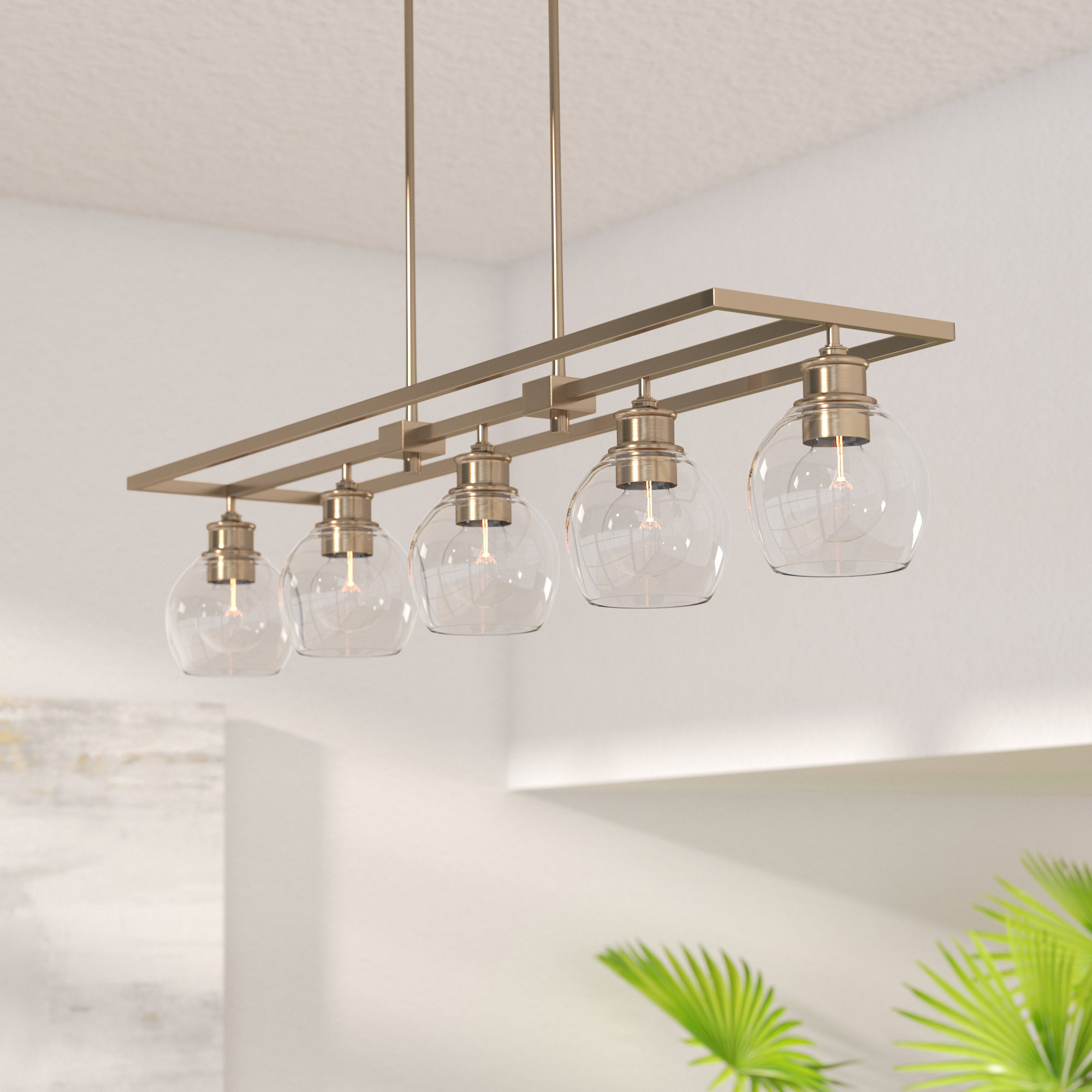 Wayfair Throughout Favorite Freemont 5 Light Kitchen Island Linear Chandeliers (View 17 of 25)
