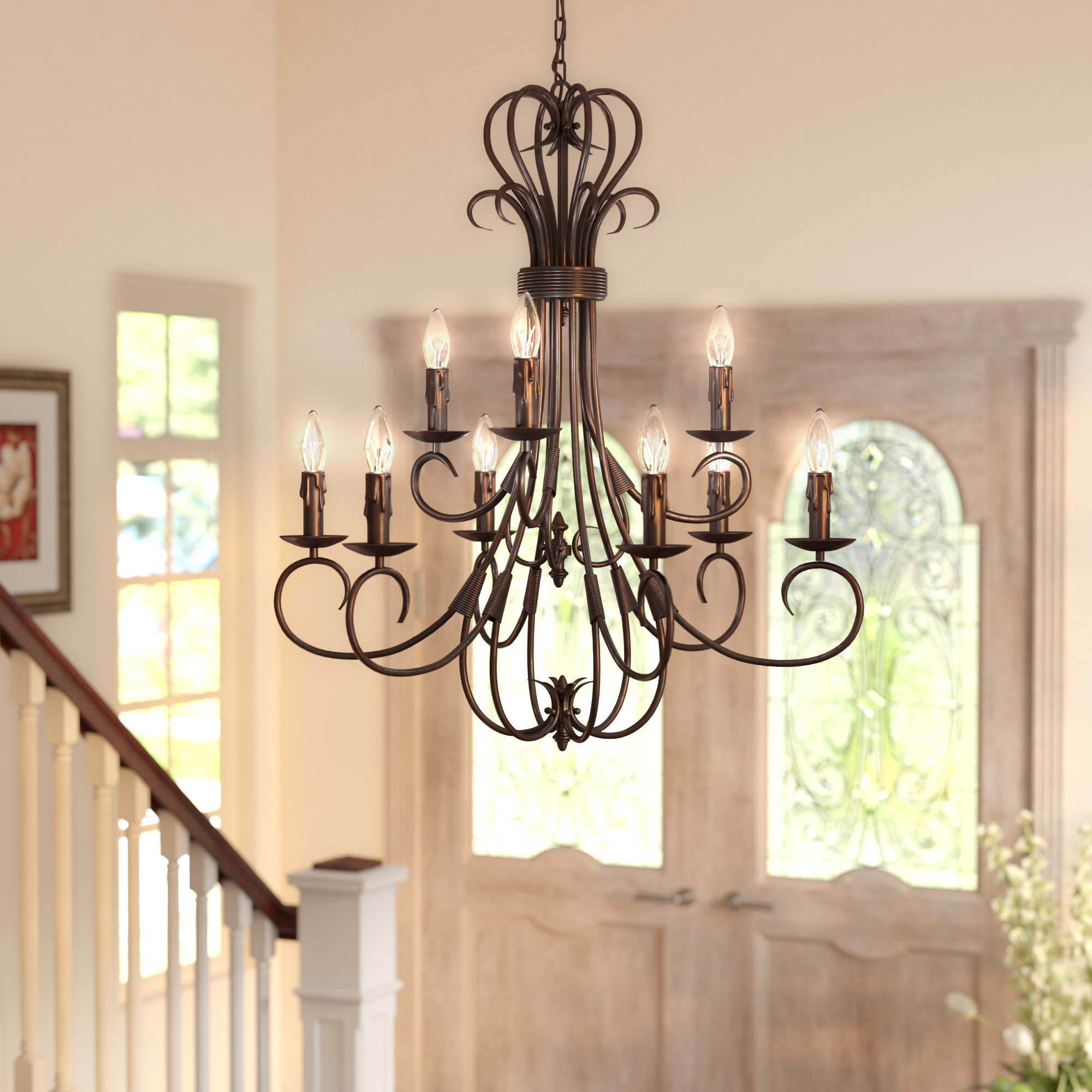 Wayfair With Gaines 9 Light Candle Style Chandeliers (View 21 of 25)