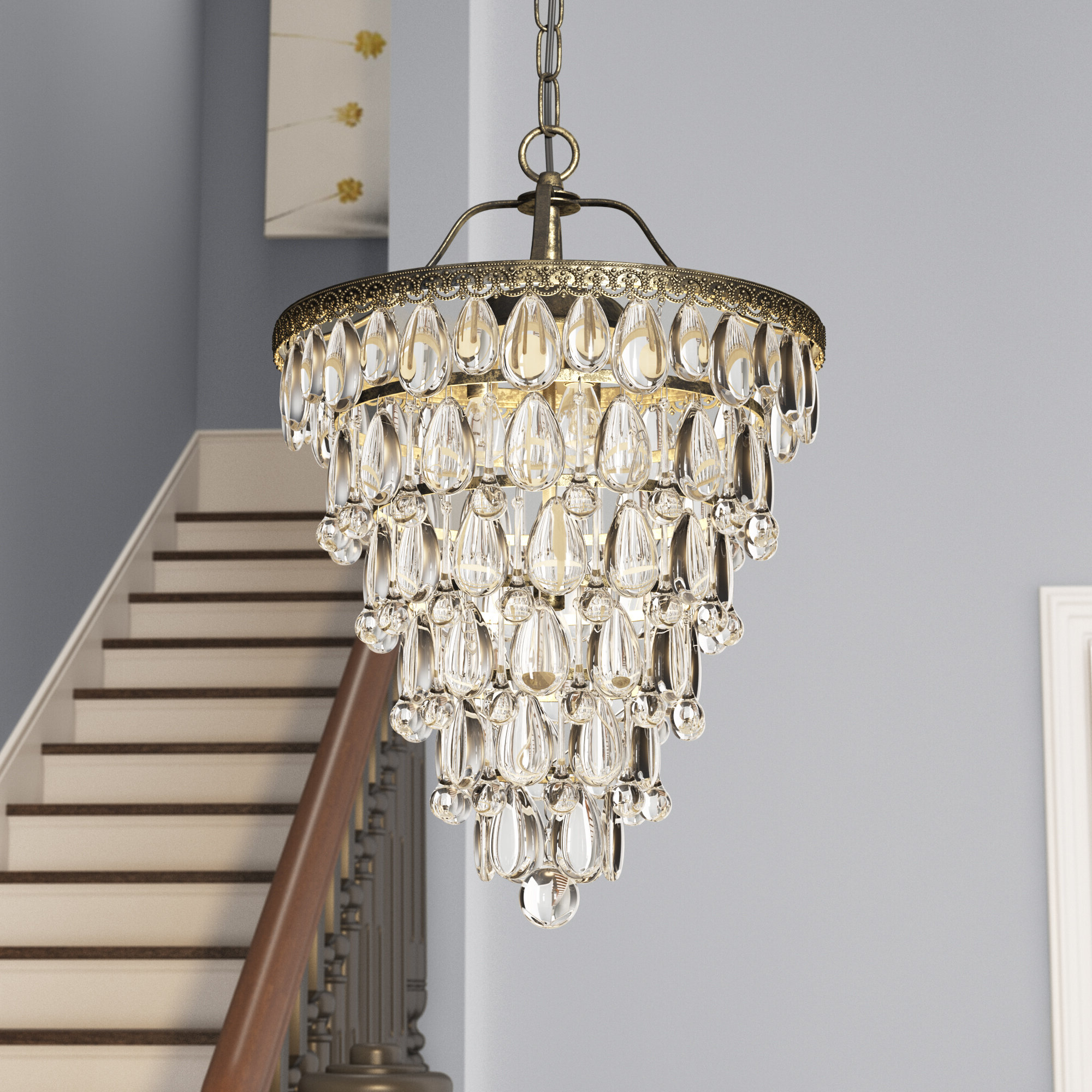 Wayfair Within Aurore 4 Light Crystal Chandeliers (View 23 of 25)
