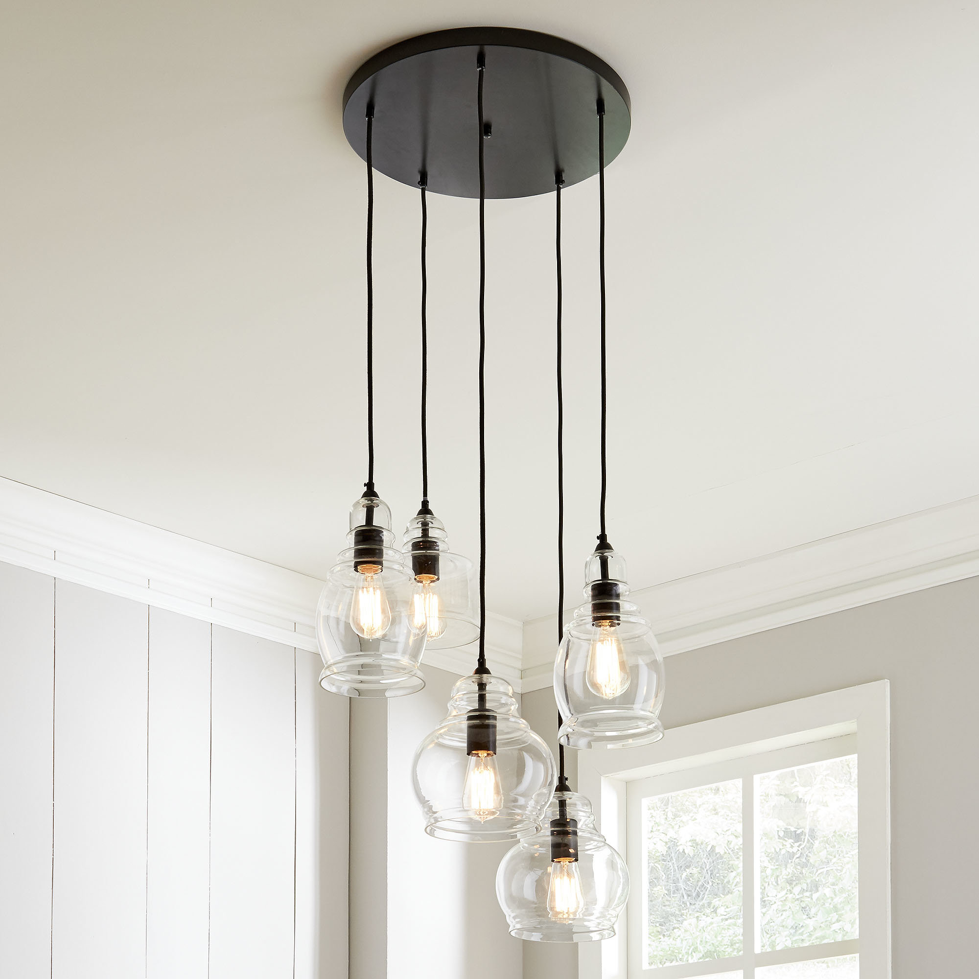 Wayfair Within Famous Berenice 3 Light Cluster Teardrop Pendants (View 10 of 25)