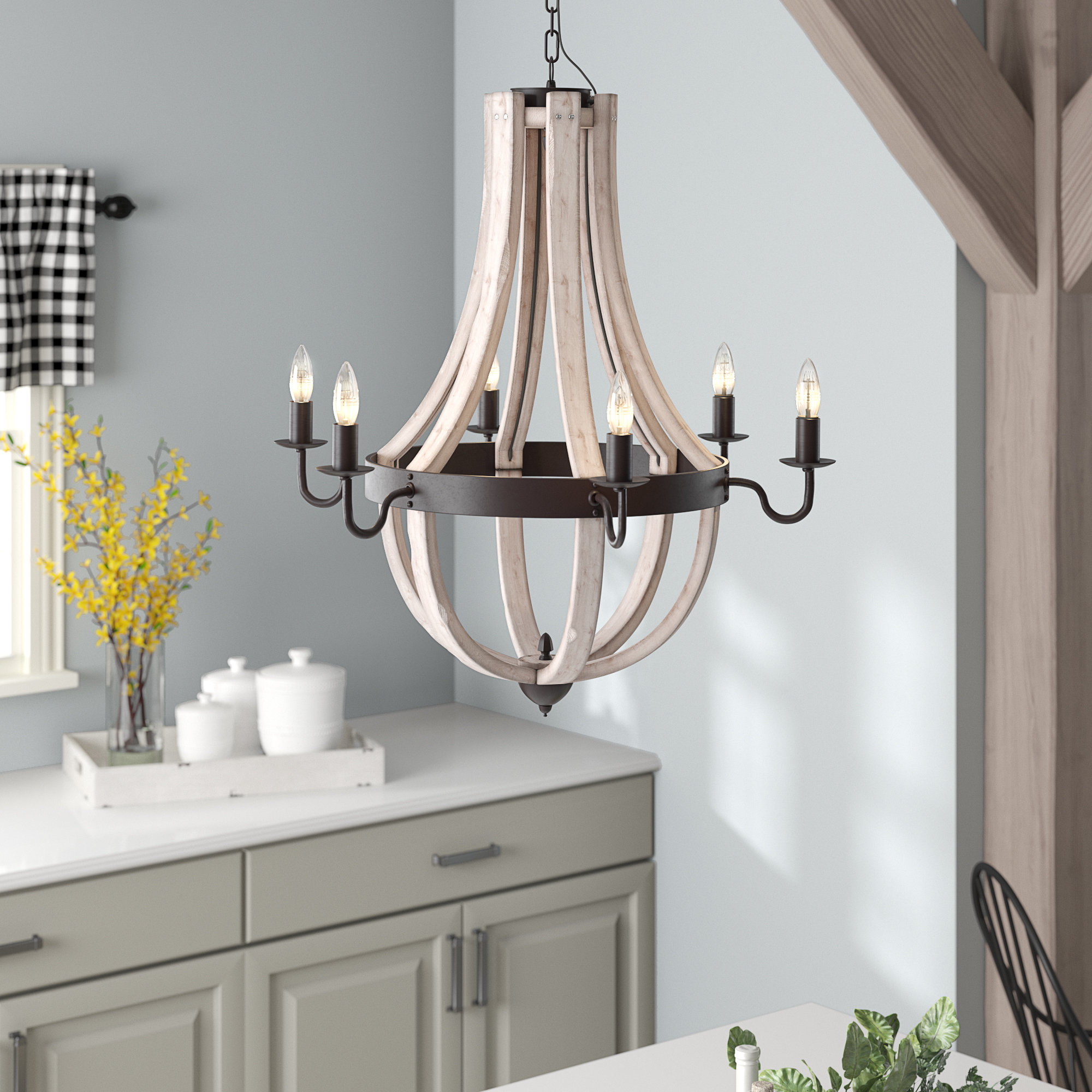 Wayfair Within Lynn 6 Light Geometric Chandeliers (View 15 of 25)