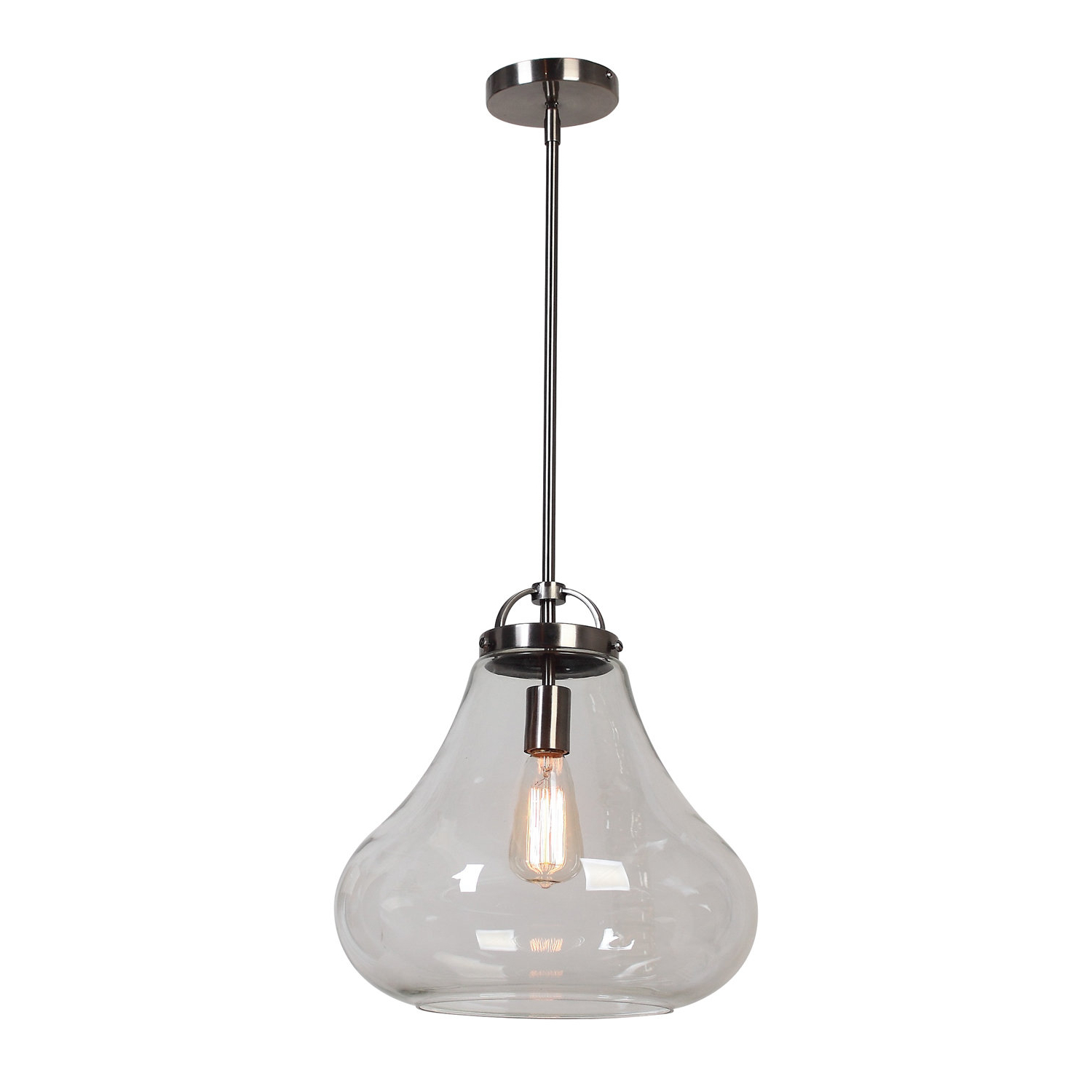 Weatherspoon 1 Light Schoolhouse Pendant Throughout Best And Newest Kimsey 1 Light Teardrop Pendants (View 7 of 25)
