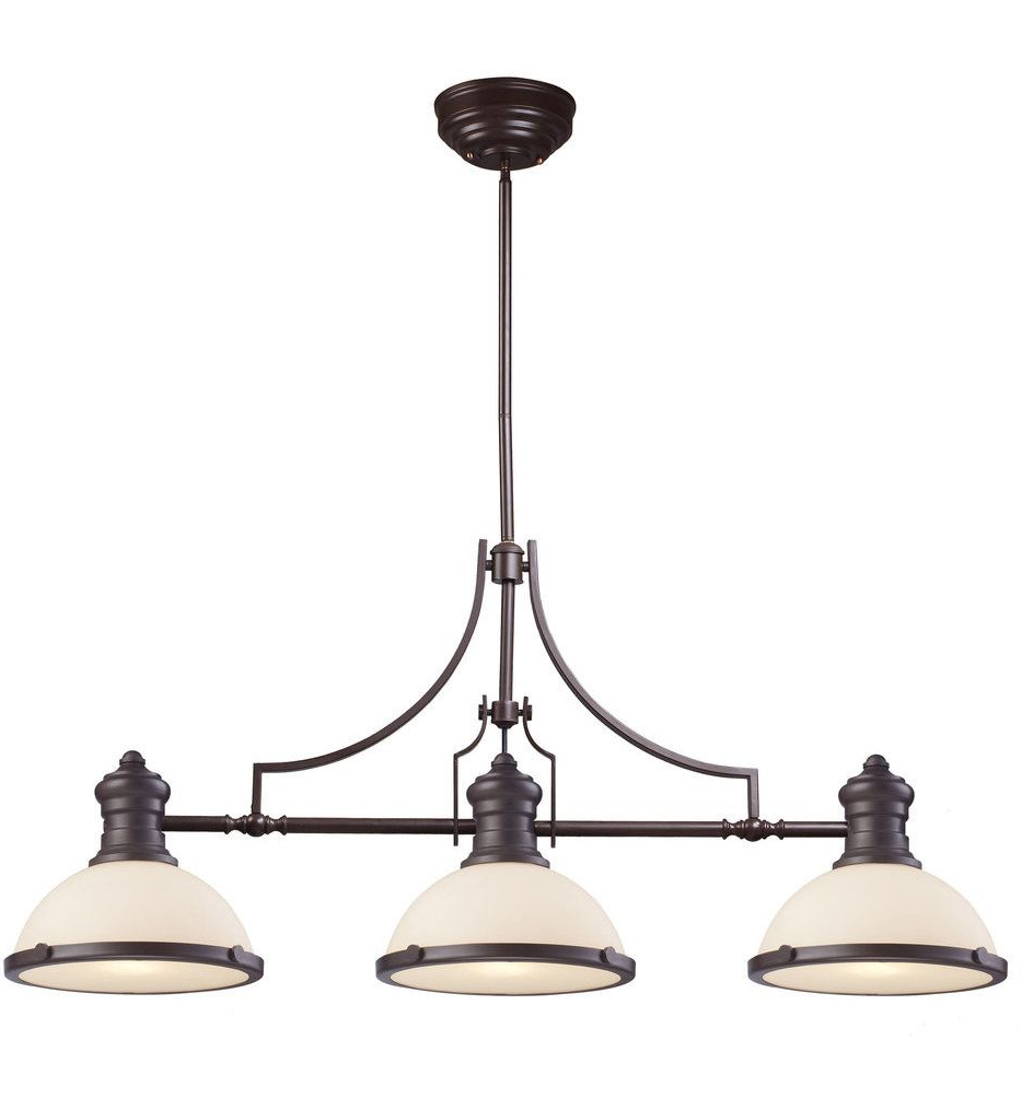 Well Known Alayna 4 Light Shaded Chandeliers Inside Elk Lighting – 66635 3 – Oil Rubbed Bronze 47 Inch 3 Light (View 24 of 25)