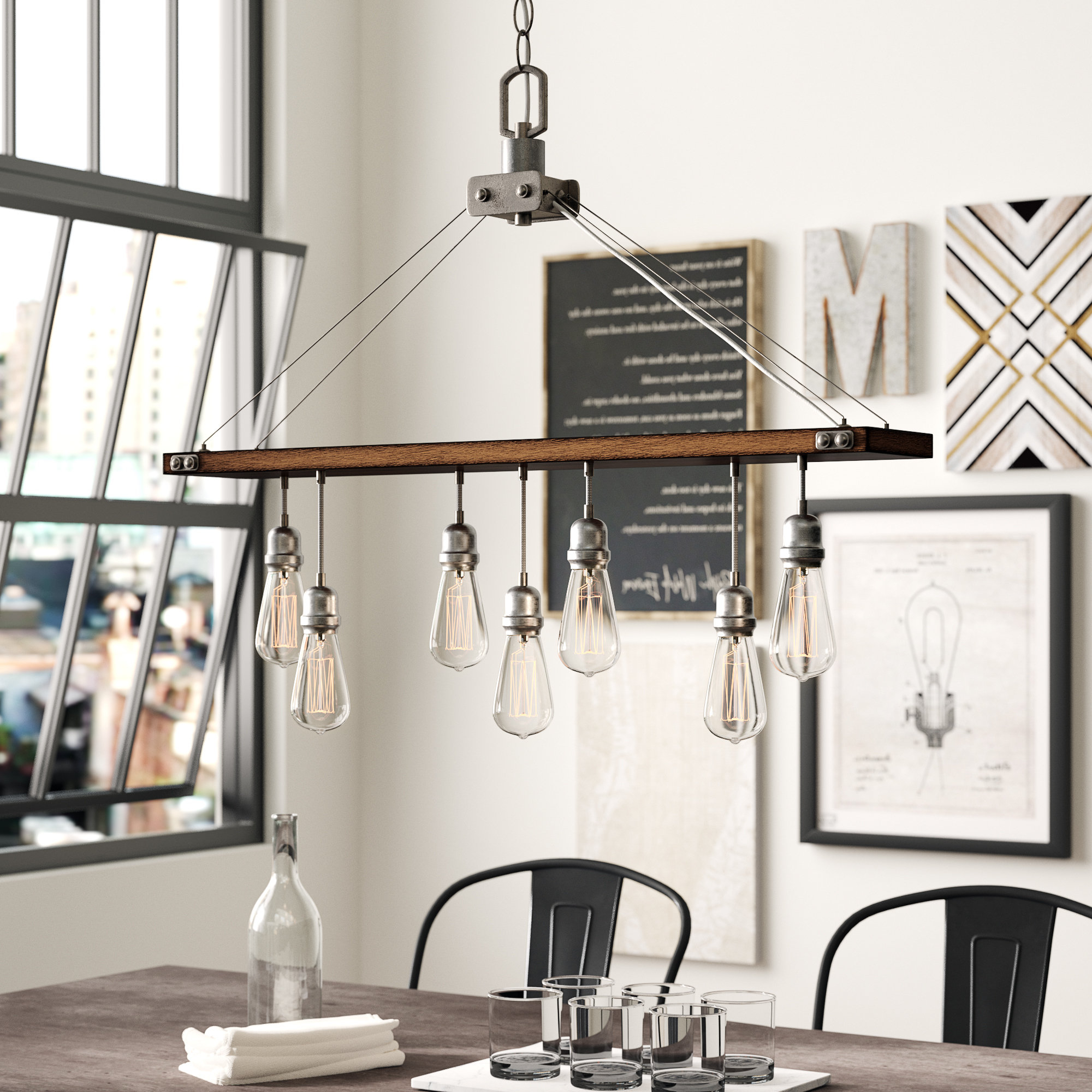 Well Known Baez 7 Light Rectangle Chandelier With Regard To Ellenton 4 Light Rectangle Chandeliers (View 24 of 25)