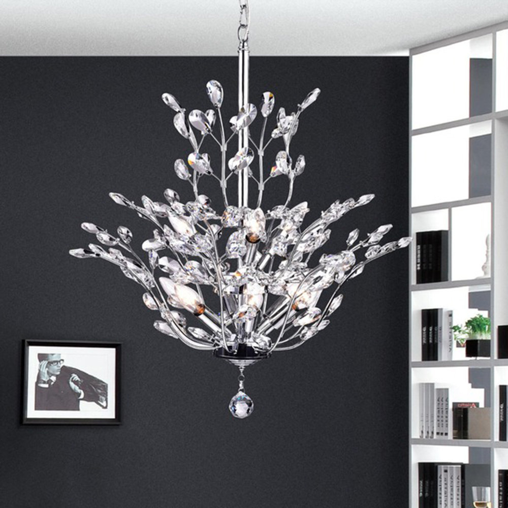 Well Known Brookleigh Leaf 9 Light Candle Style Chandelier Throughout Hesse 5 Light Candle Style Chandeliers (View 22 of 25)