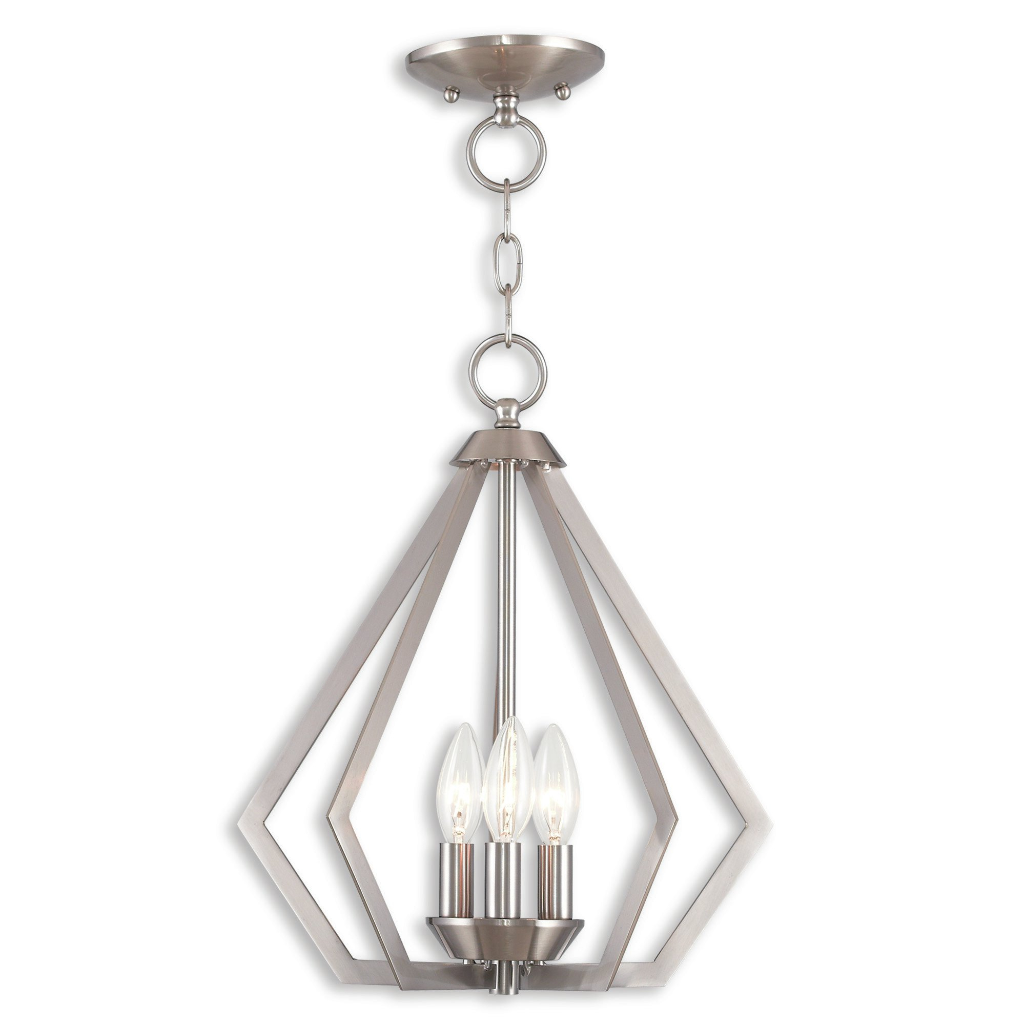 Well Known Chauvin 3 Light Lantern Geometric Pendants Within Borasisi 3 Light Lantern Geometric Pendant (View 25 of 25)