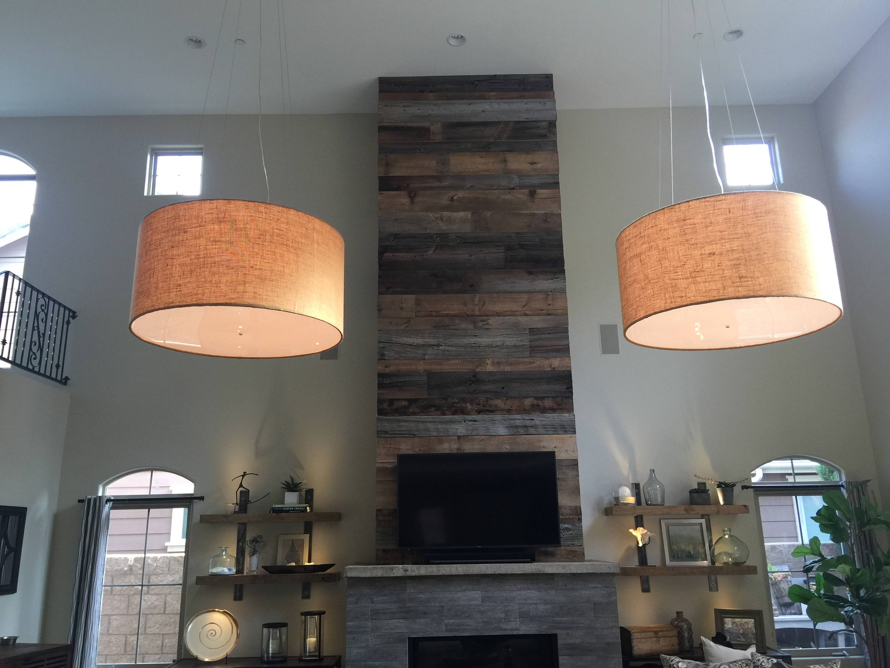 Well Known Custom 48 Inch Extra Large Drum Pendant Light Fixture Throughout Vincent 5 Light Drum Chandeliers (View 22 of 25)