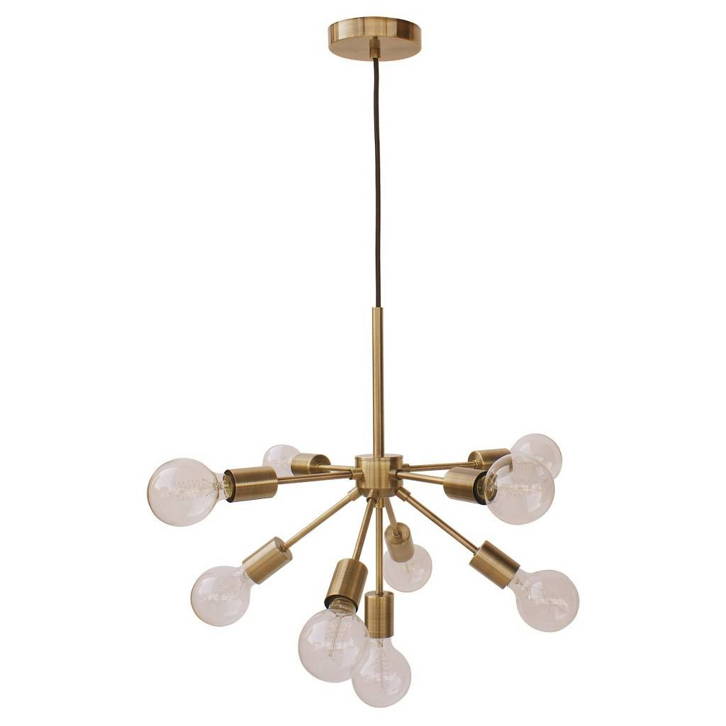 Well Known Defreitas 18 Light Sputnik Chandeliers Pertaining To Menlo Asterisk Ceiling Light Brass – Project 62™ (View 22 of 25)