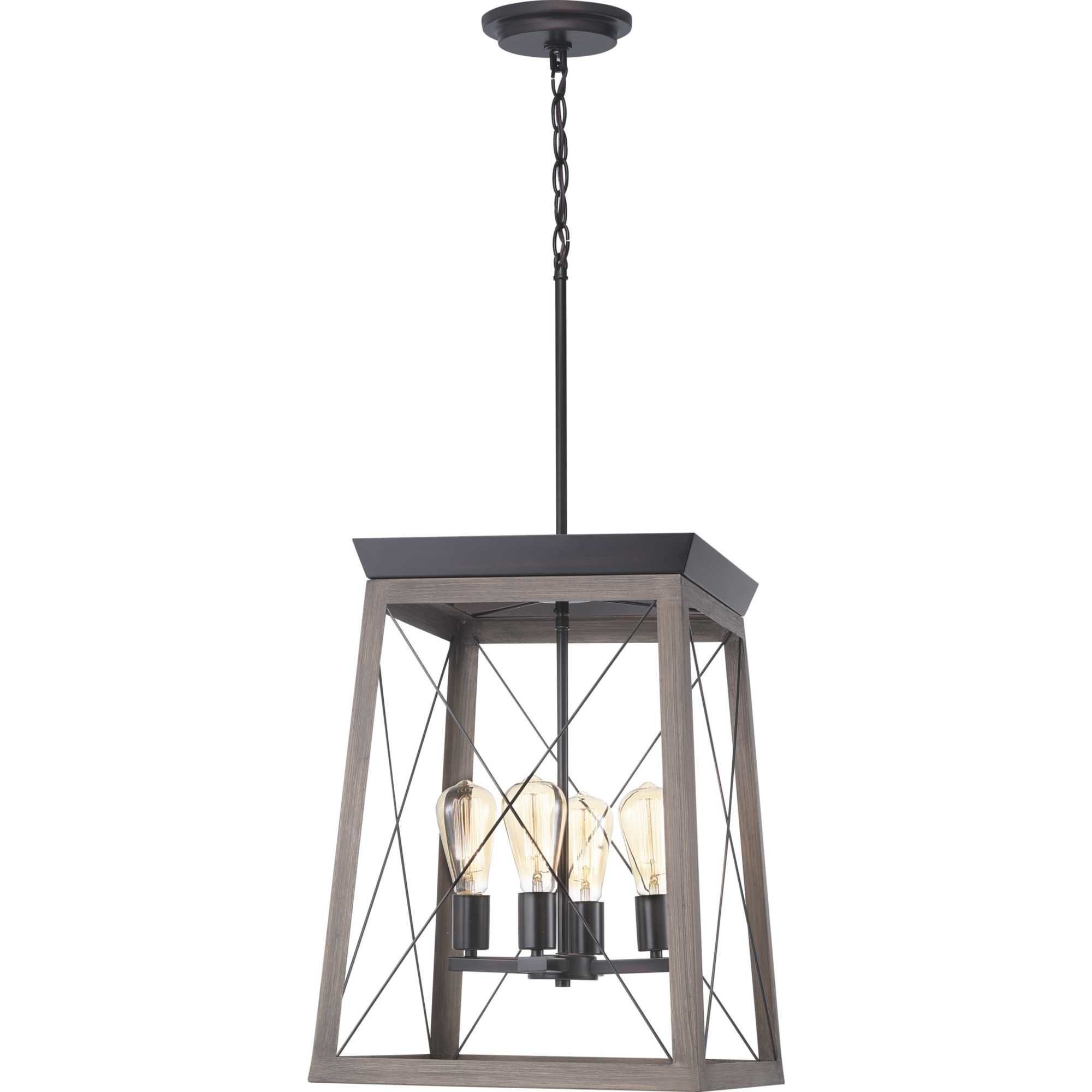 Well Known Delon 4 Light Square Chandeliers With Regard To Delon 4 Light Lantern Geometric Pendant (View 23 of 25)