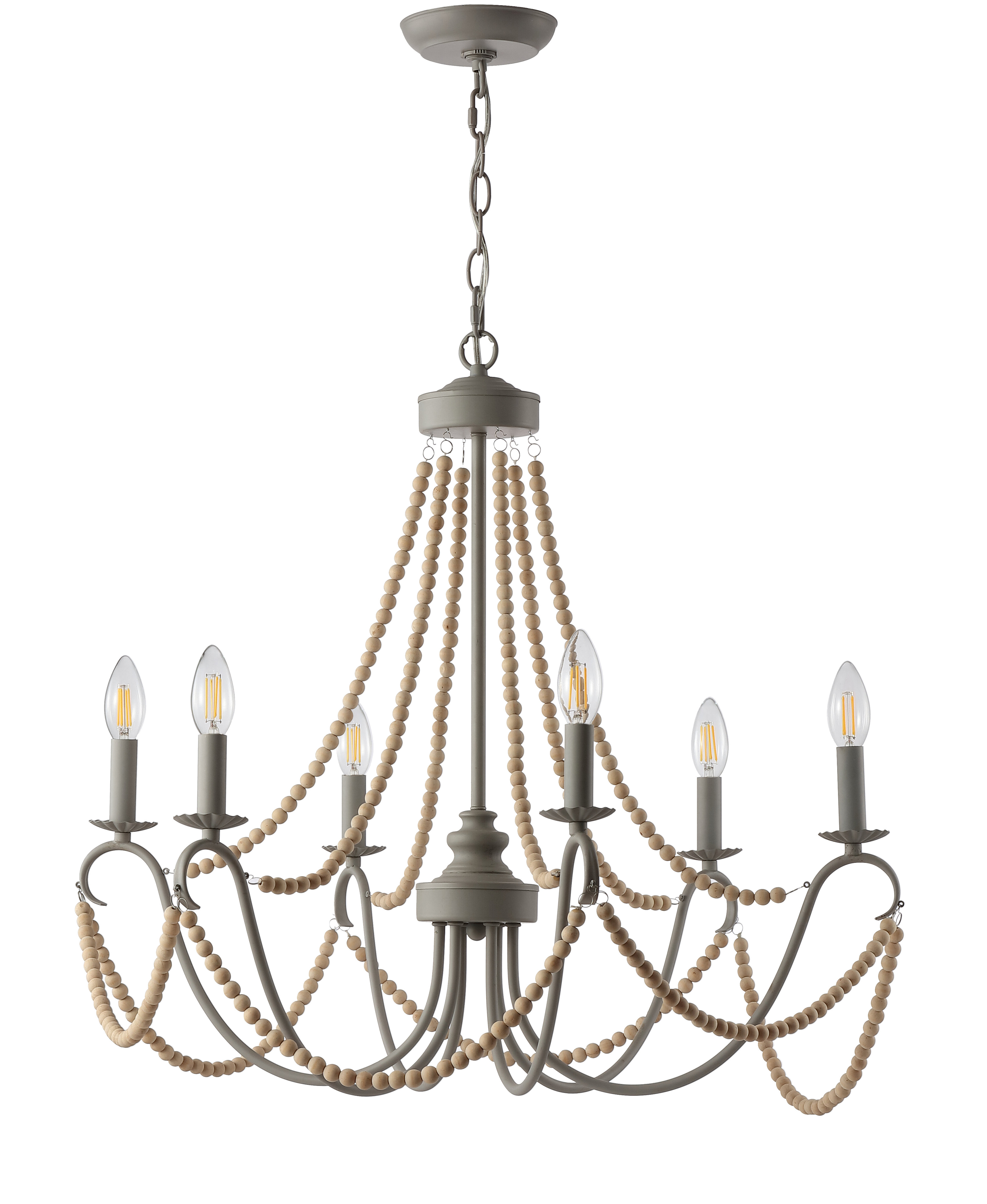 Well Known Diaz 6 Light Candle Style Chandeliers With One Allium Way Carnes 6 Light Candle Style Chandelier (View 24 of 25)