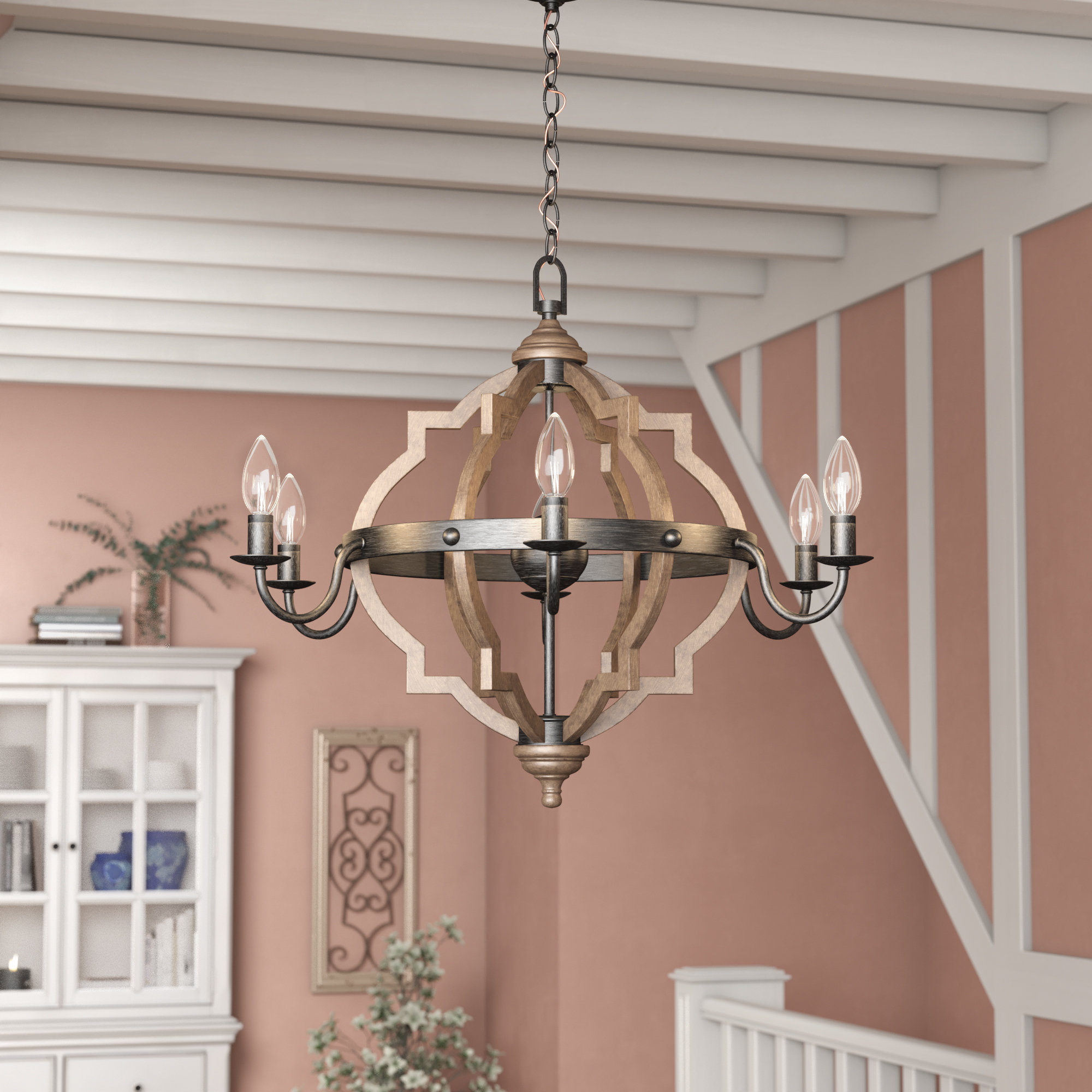 Well Known Donna 6 Light Globe Chandeliers For Laurel Foundry Modern Farmhouse Donna 6 Light Candle Style (View 21 of 25)