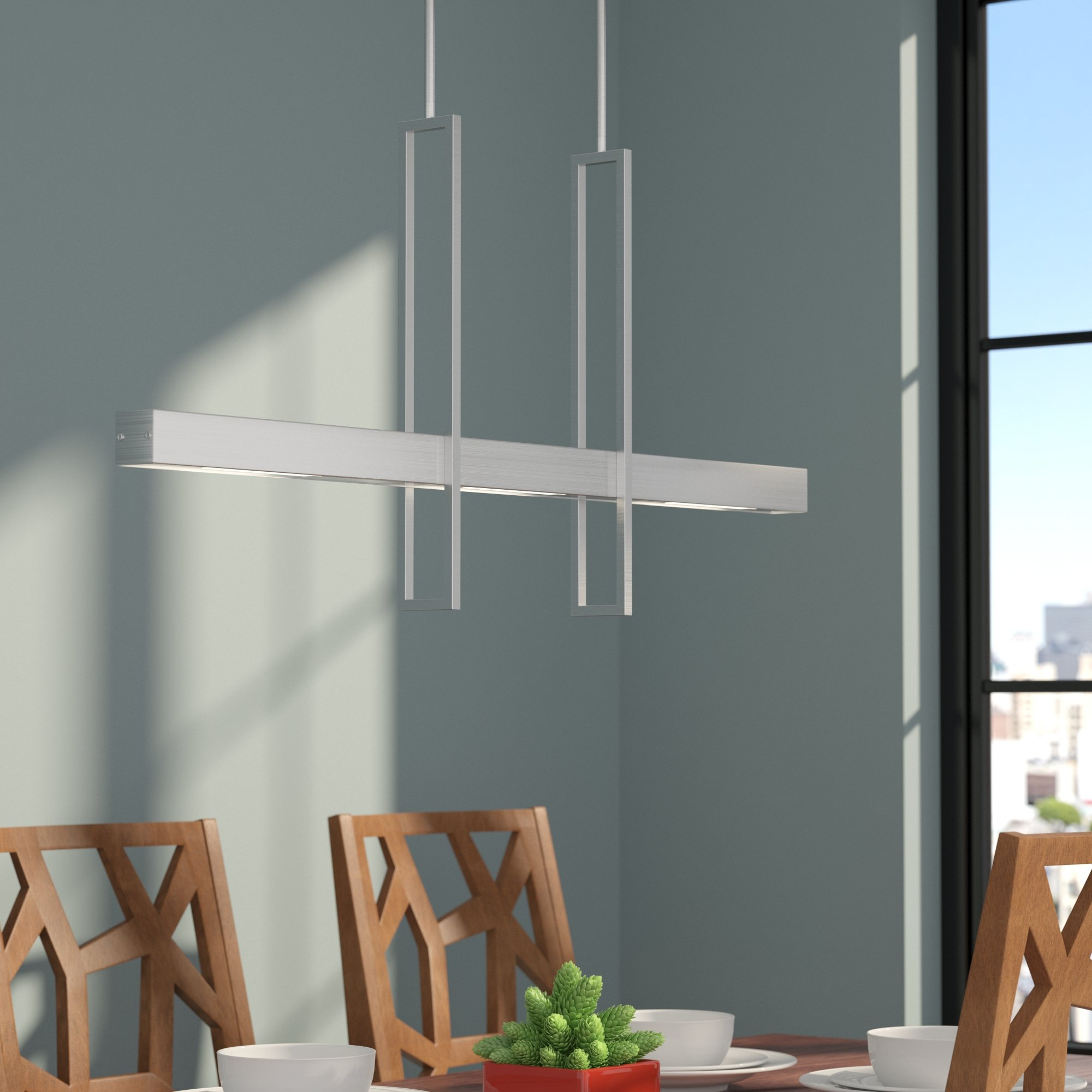 Well Known Euclid 2 Light Kitchen Island Linear Pendants Regarding 2 Light Kitchen Island Pendant Lighting You'll Love In  (View 11 of 25)