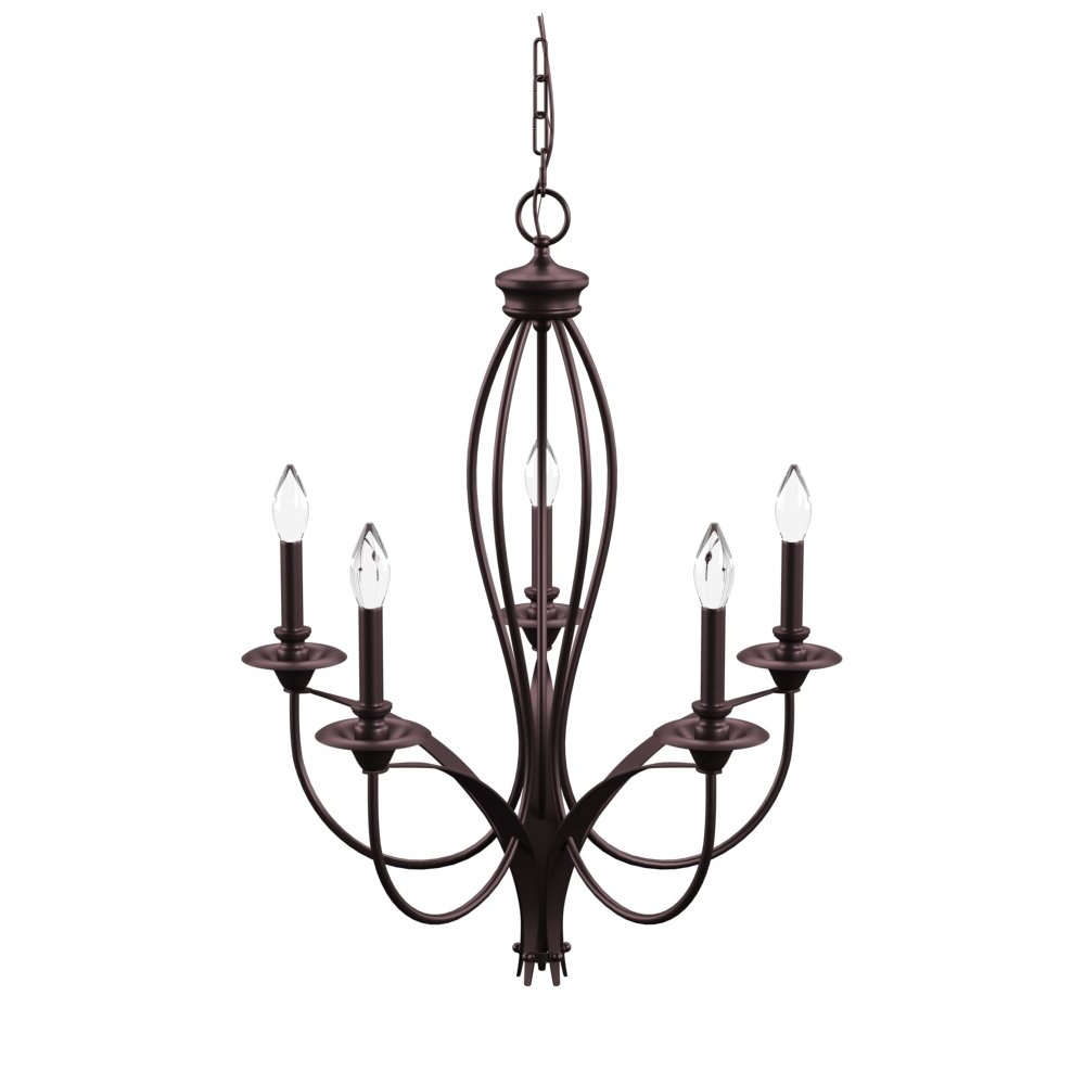 Well Known Florentina 5 Light Candle Style Chandeliers Inside August Grove Tarres 5 Light Candle Style Chandelier (View 24 of 25)
