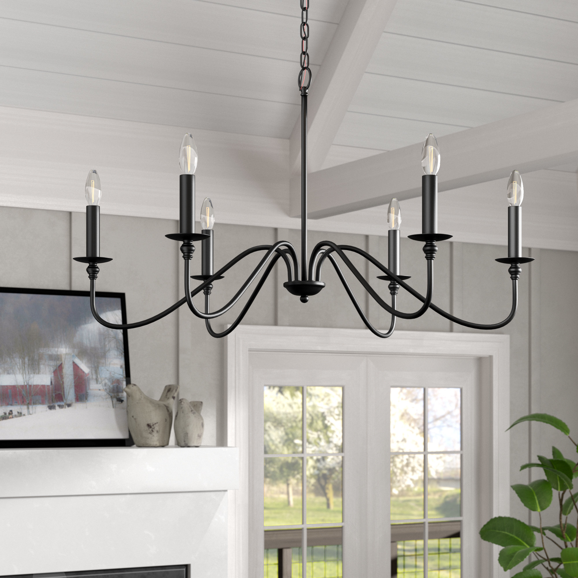 Well Known Hamza 6 Light Candle Style Chandelier Regarding Lynn 6 Light Geometric Chandeliers (View 8 of 25)