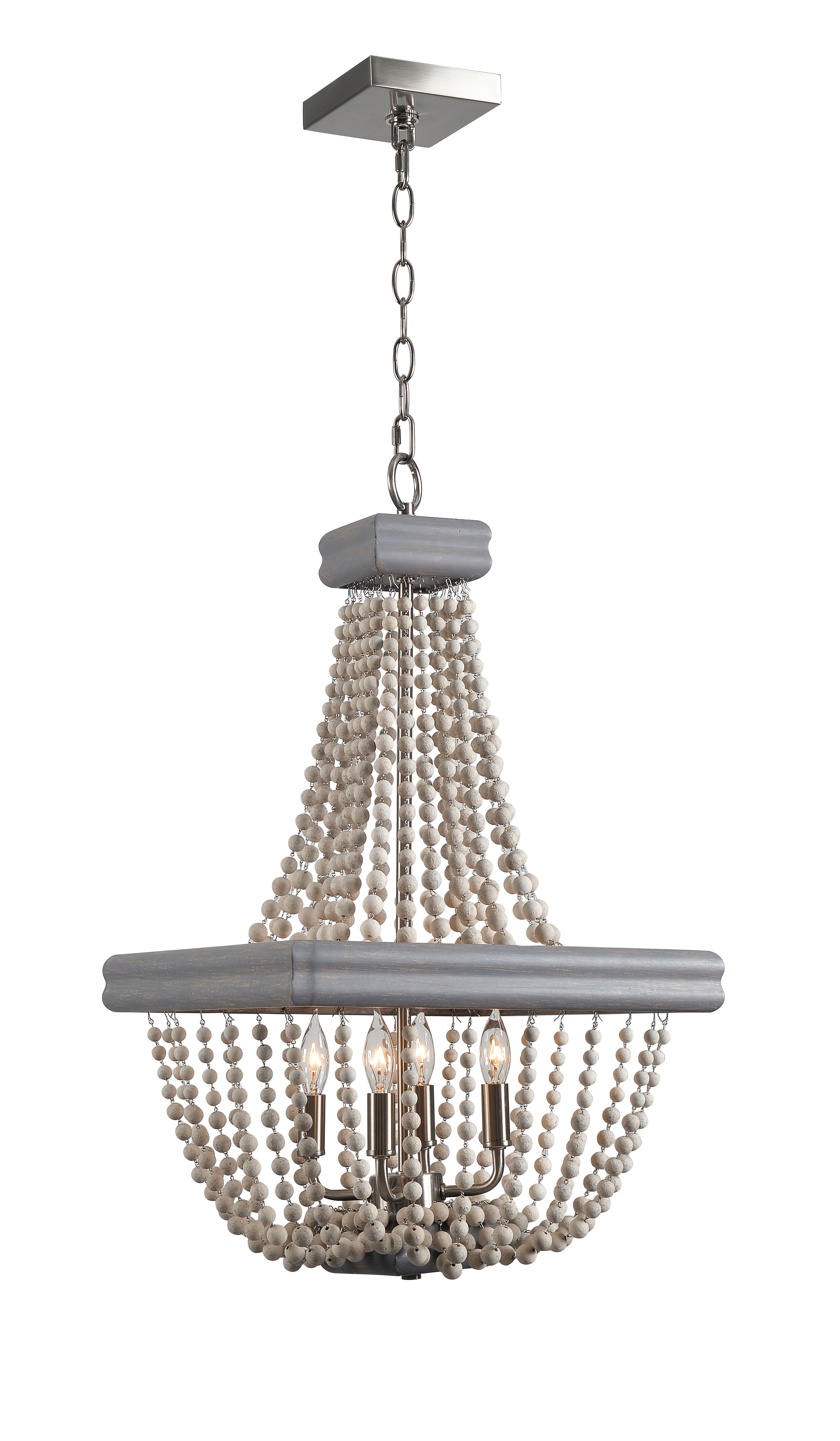 Well Known Hatfield 3 Light Novelty Chandeliers Pertaining To 4 Light Empire Chandelier (View 11 of 25)