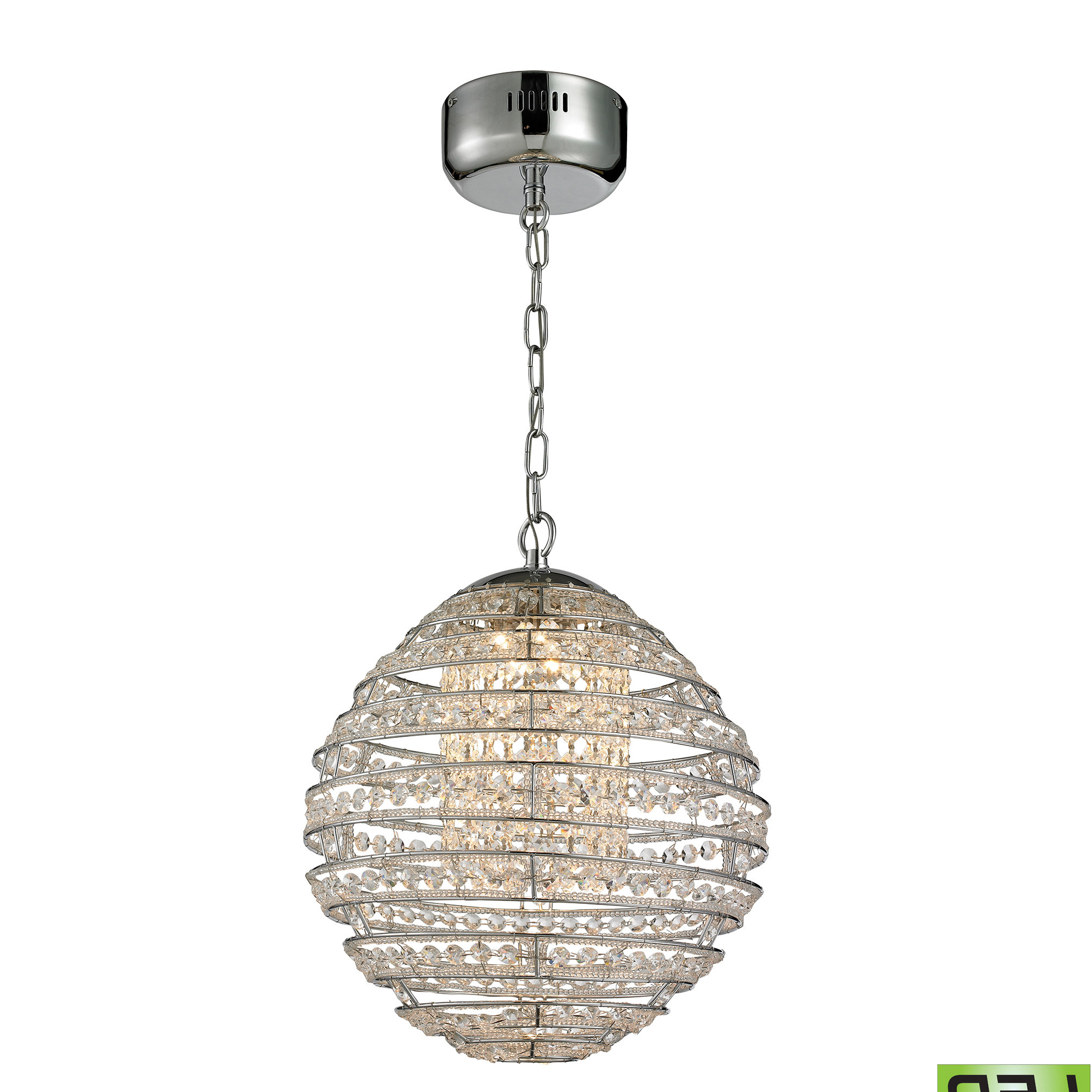 Well Known Hermione 1 Light Single Drum Pendants Inside Tussey 1 Light Led Single Globe Pendant (View 8 of 25)