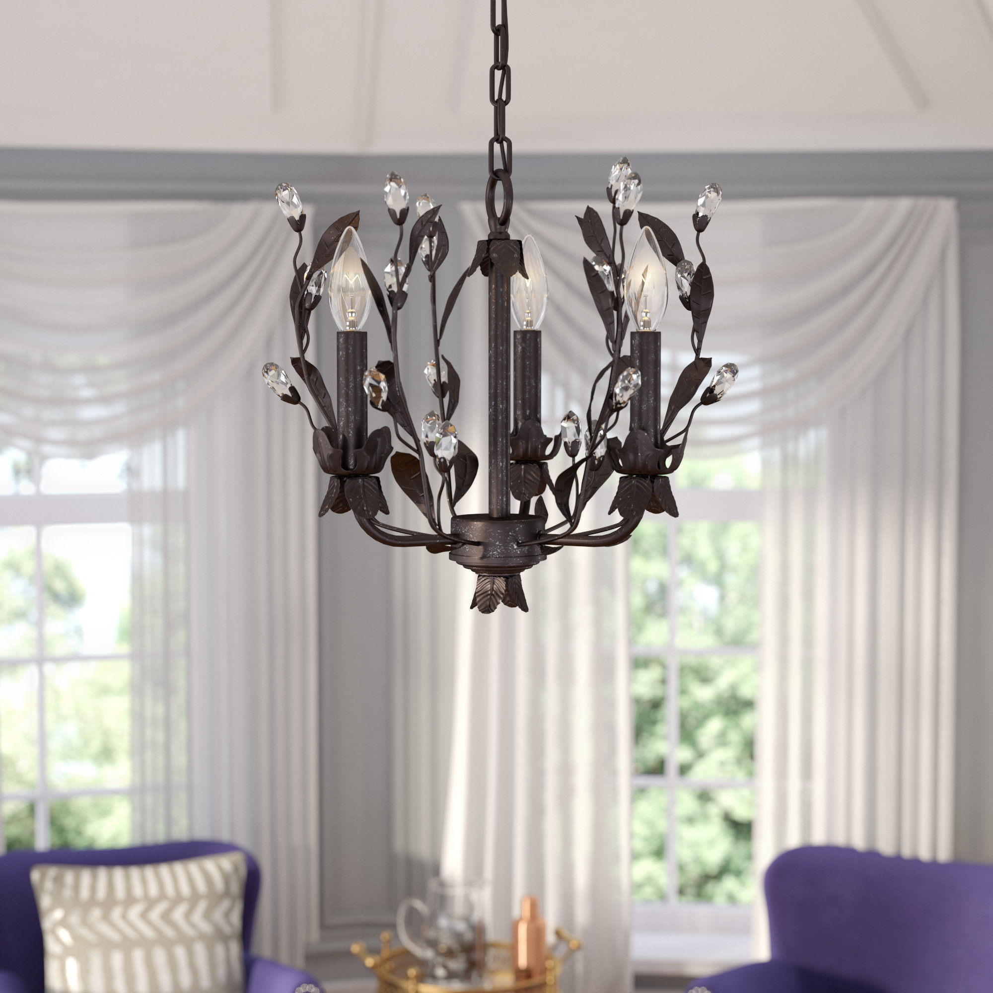 Well Known Hesse 5 Light Candle Style Chandeliers Inside Giovanna 3 Light Candle Style Chandelier (View 13 of 25)