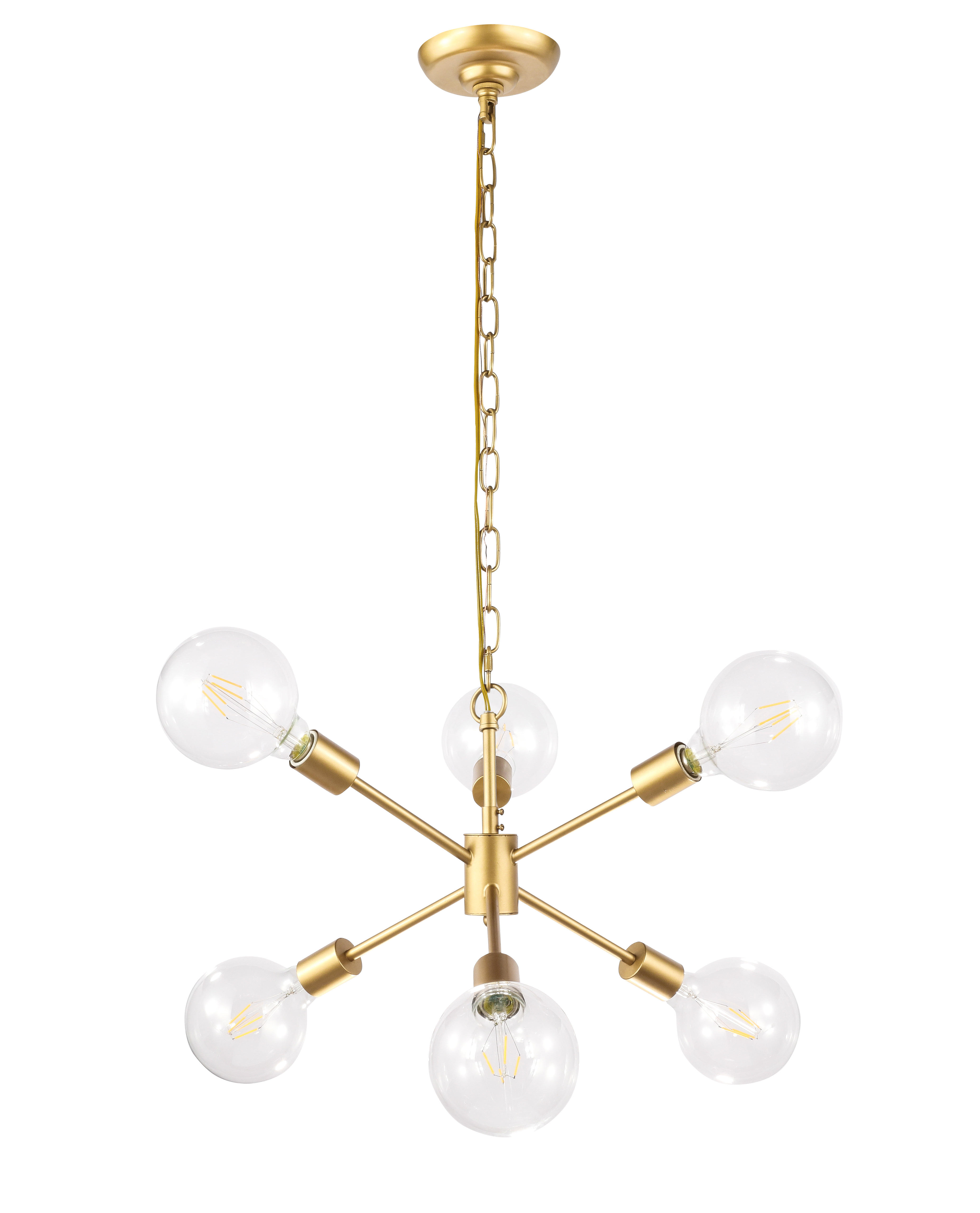 Well Known Johanne 6 Light Sputnik Chandeliers For Velva 6 Light Sputnik Chandelier (View 23 of 25)