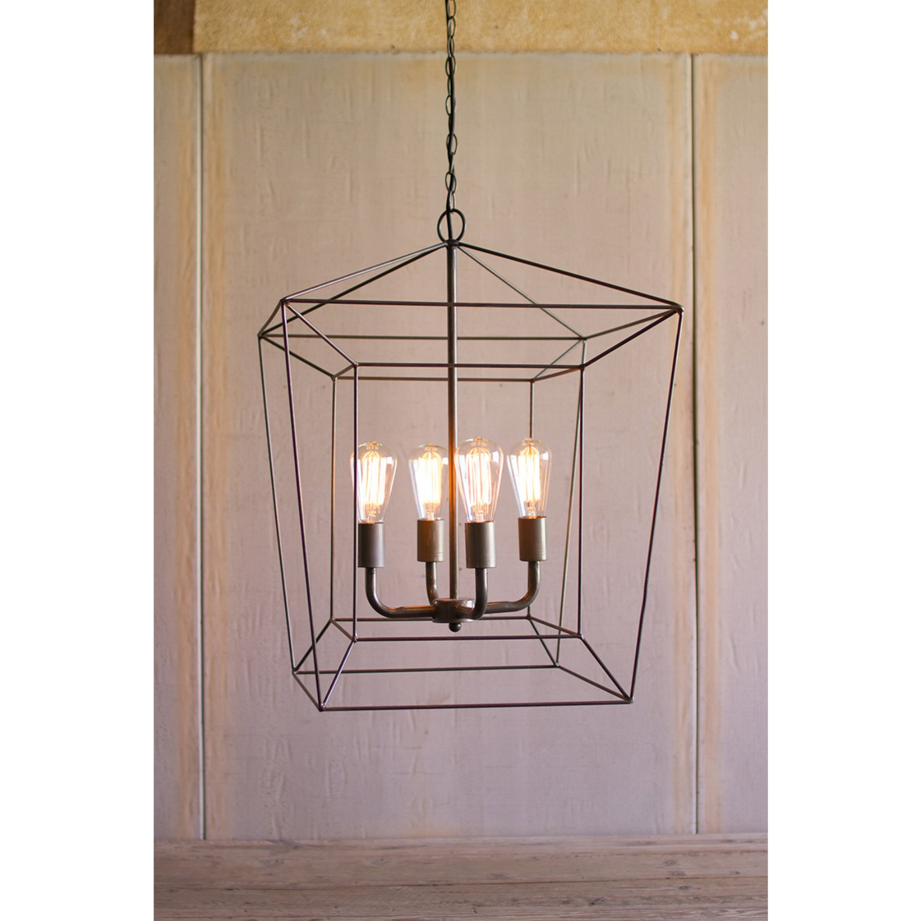 Well Known Kalalou Square Iron Bar Pendant Light (View 24 of 25)
