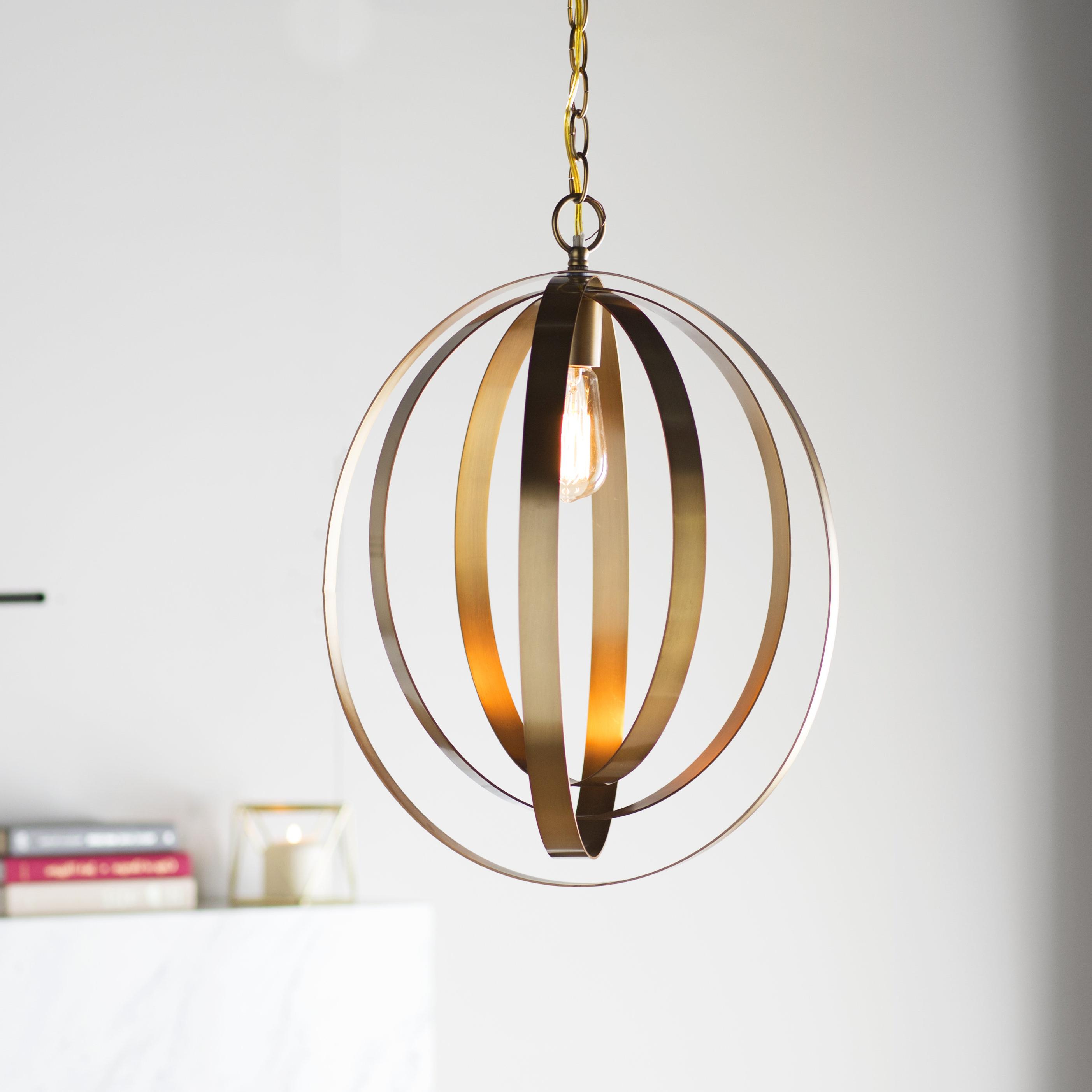 Well Known Kilby 1 Light Pendants Throughout Arango 1 Light Led Globe Pendant (View 5 of 25)