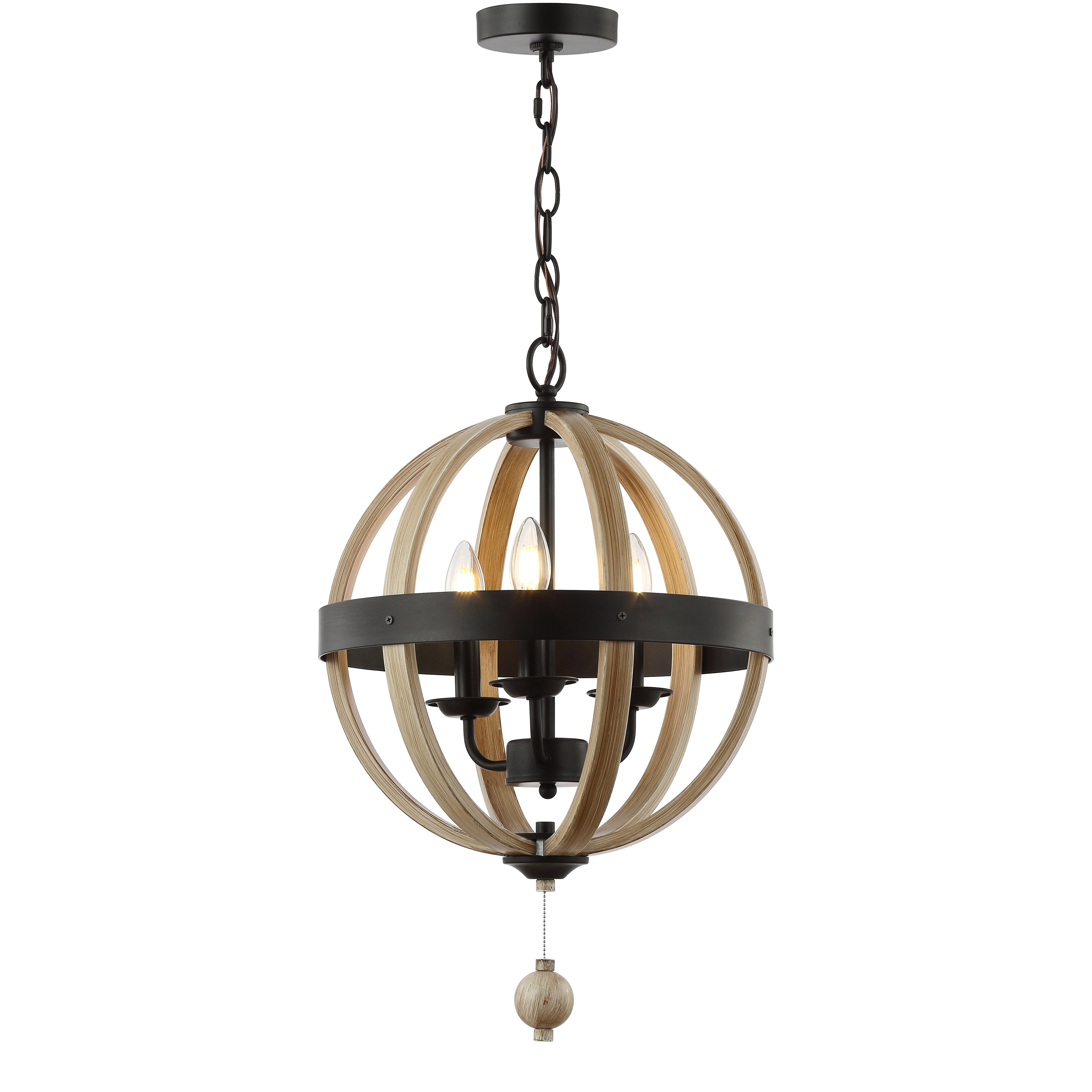 Well Known La Barge 3 Light Globe Chandeliers With Regard To Cauthen 3 Light Globe Chandelier (View 4 of 25)