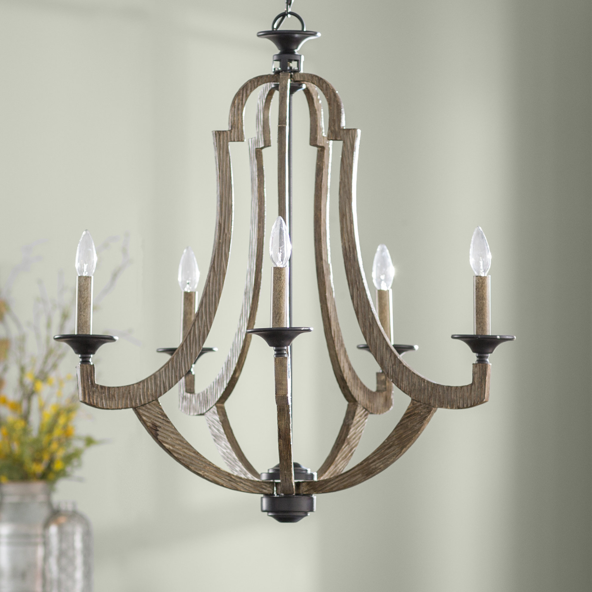 Well Known Laurel Foundry Modern Farmhouse Marcoux 5 Light Empire Chandelier Inside Duron 5 Light Empire Chandeliers (View 24 of 25)
