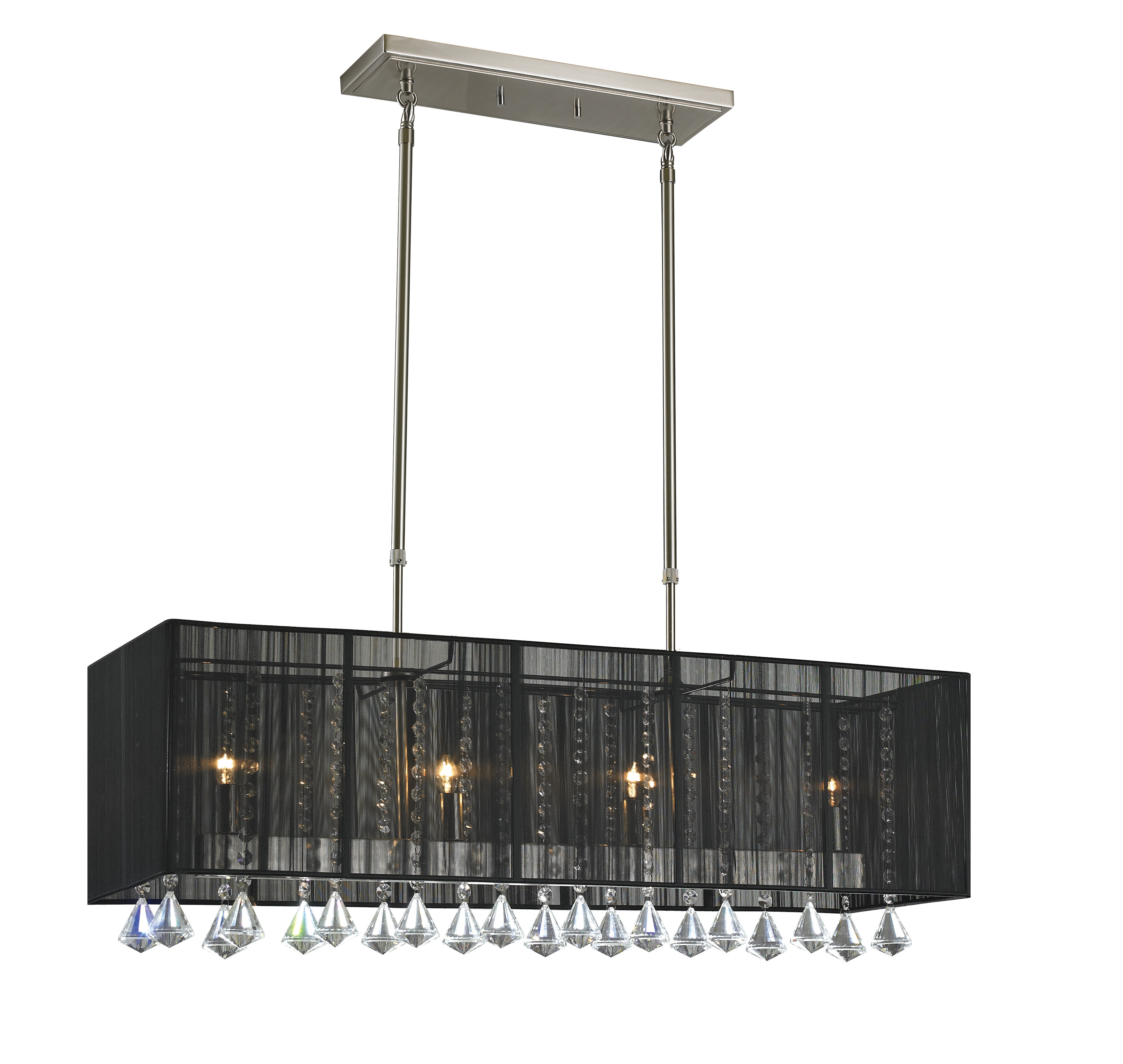 Well Known Laurine 4 Light Kitchen Island Pendant Within Schutt 4 Light Kitchen Island Pendants (View 24 of 25)