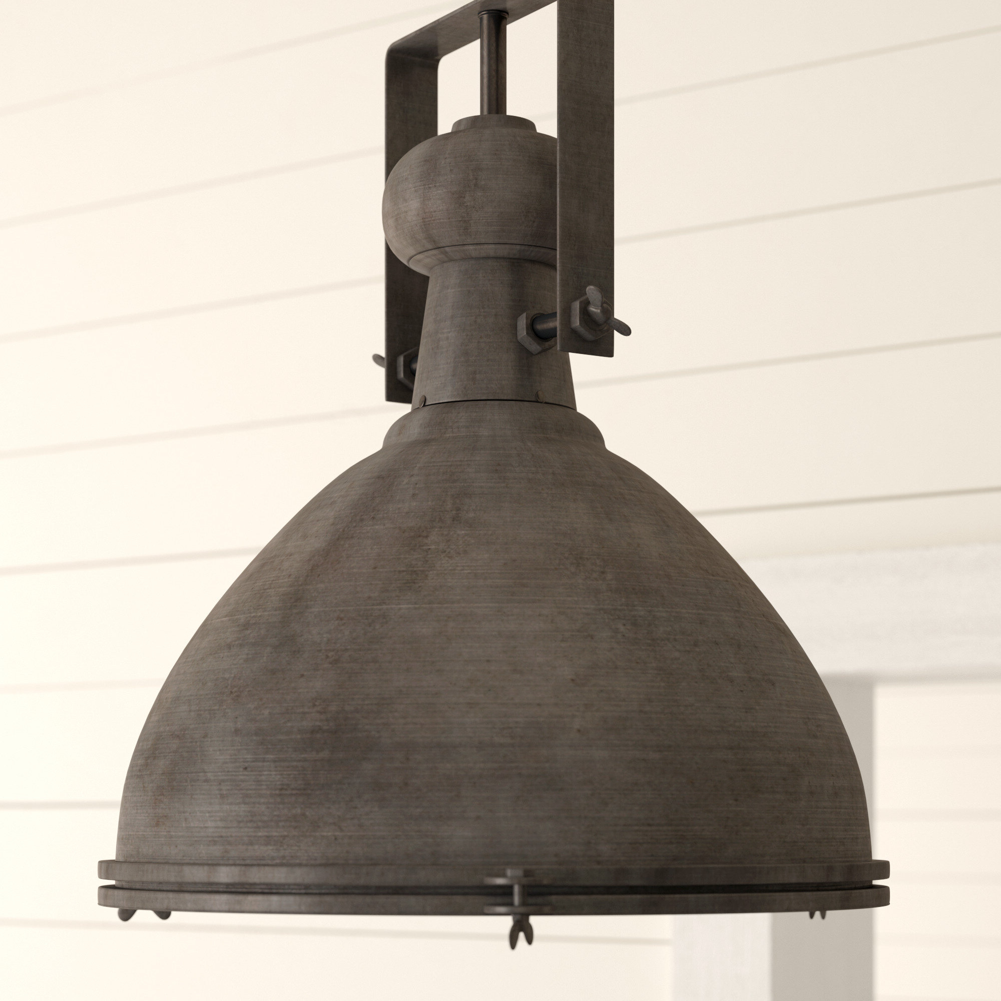 Well Known Macon 1 Light Single Dome Pendants Throughout 17 Stories Lavern 1 Light Single Dome Pendant (View 23 of 25)
