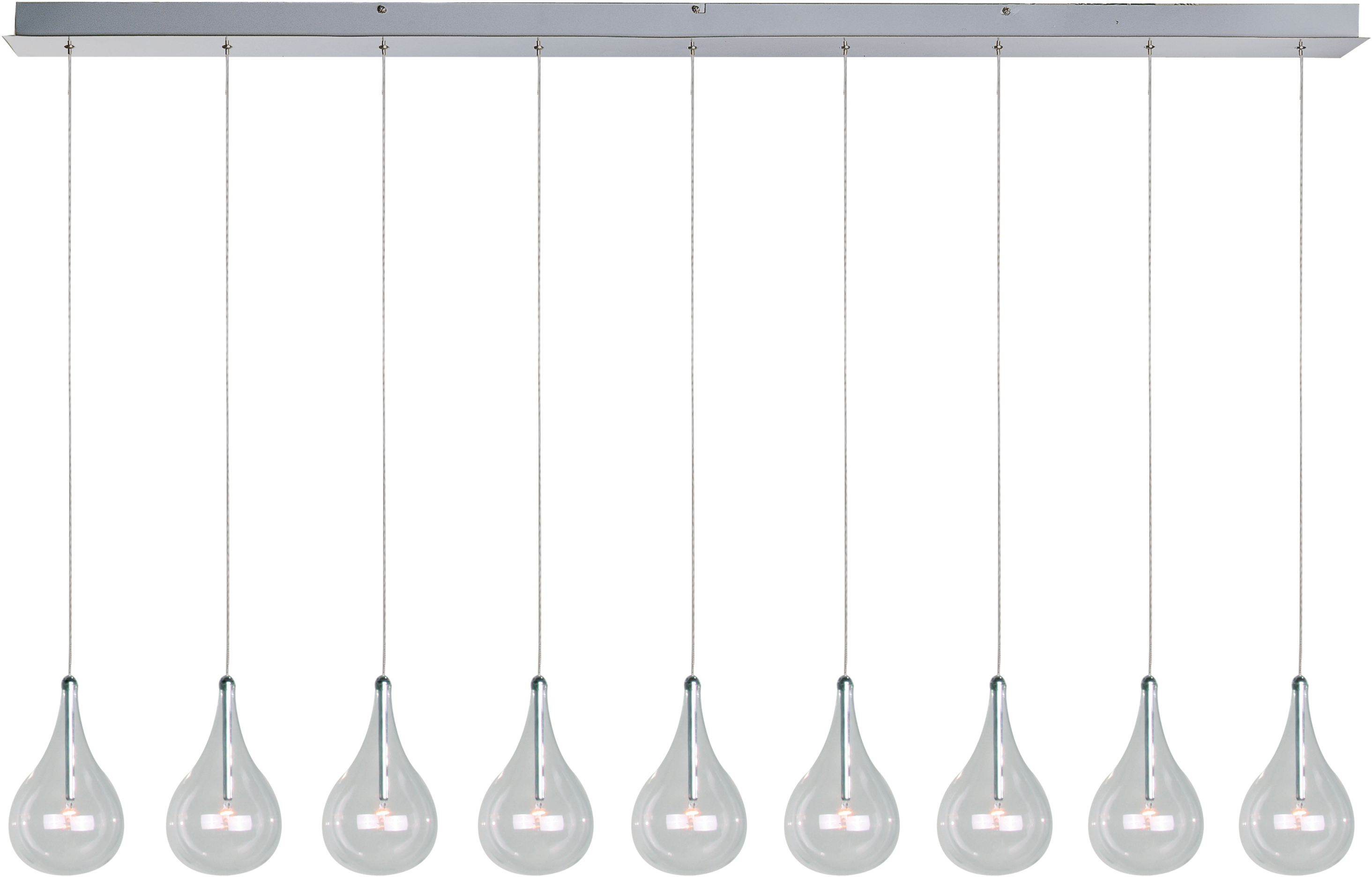 Well Known Neal 9 Light Kitchen Island Teardrop Pendants Intended For Larmes 9 Light Pendant (View 8 of 25)