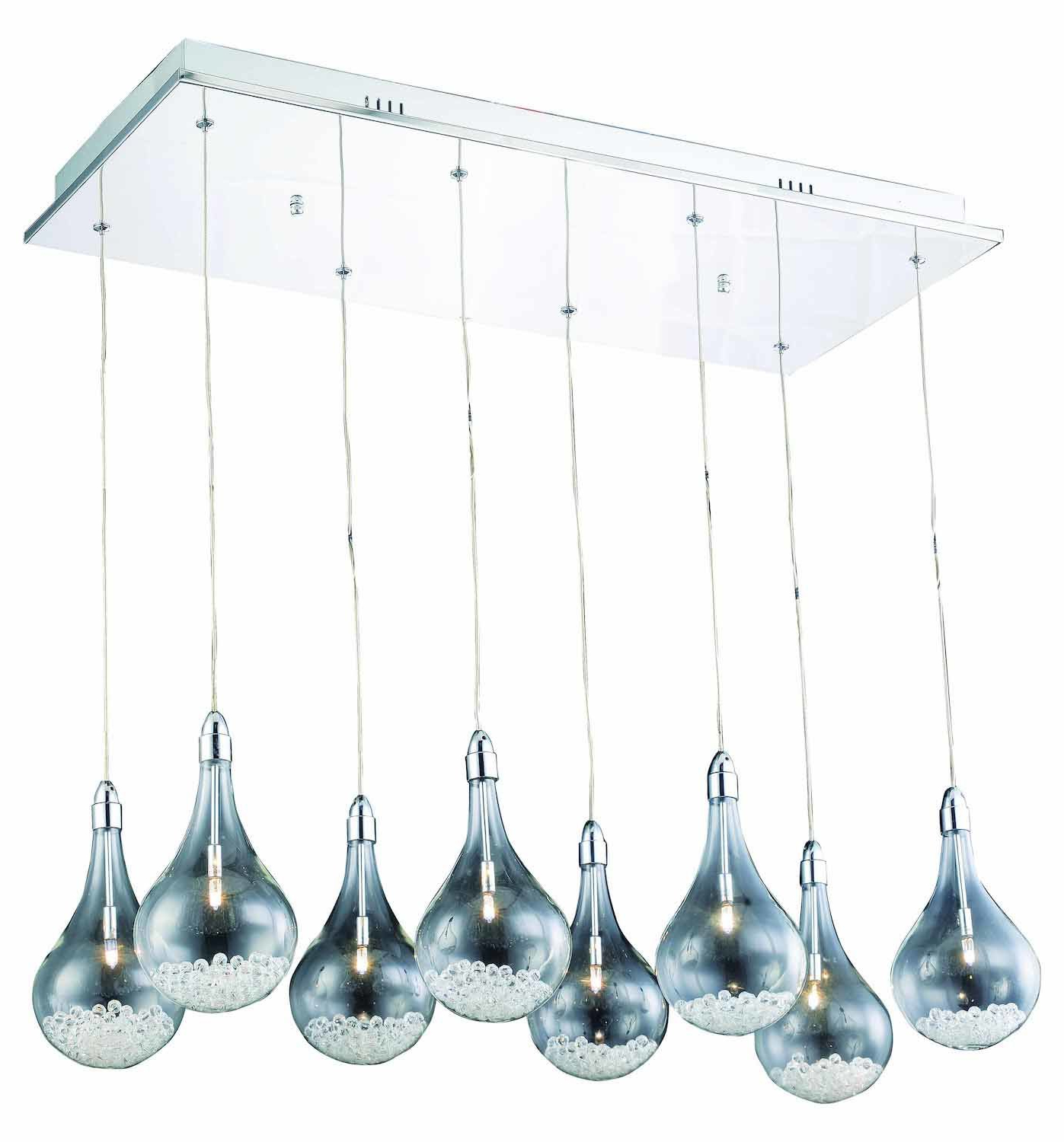 Well Known Neal 9 Light Kitchen Island Teardrop Pendants Regarding Ernie 8 Light Kitchen Island Teardrop Pendant (View 19 of 25)