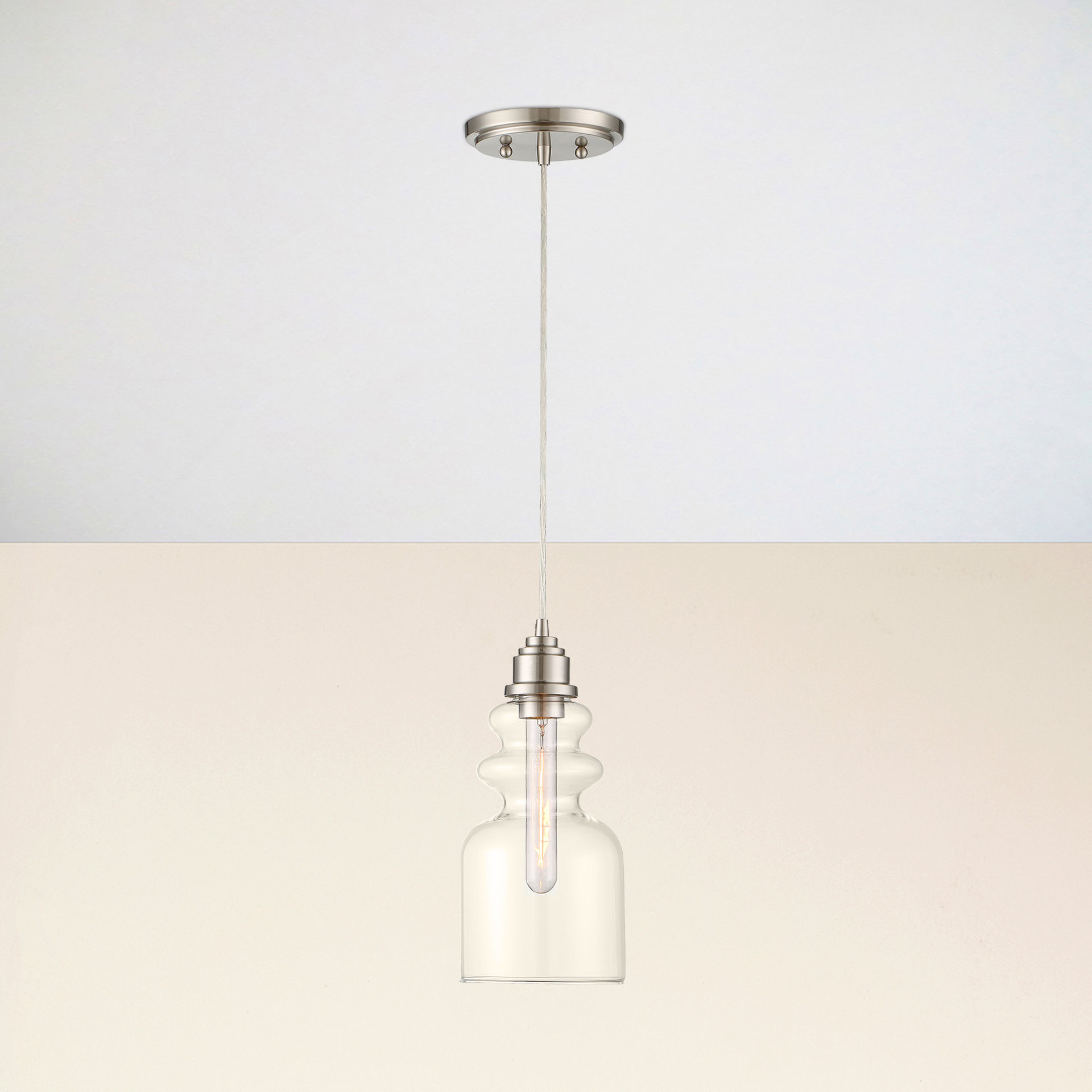 Well Known Nolan 1 Light Single Cylinder Pendants Pertaining To Reade 1 Light Bell Pendant (View 24 of 25)