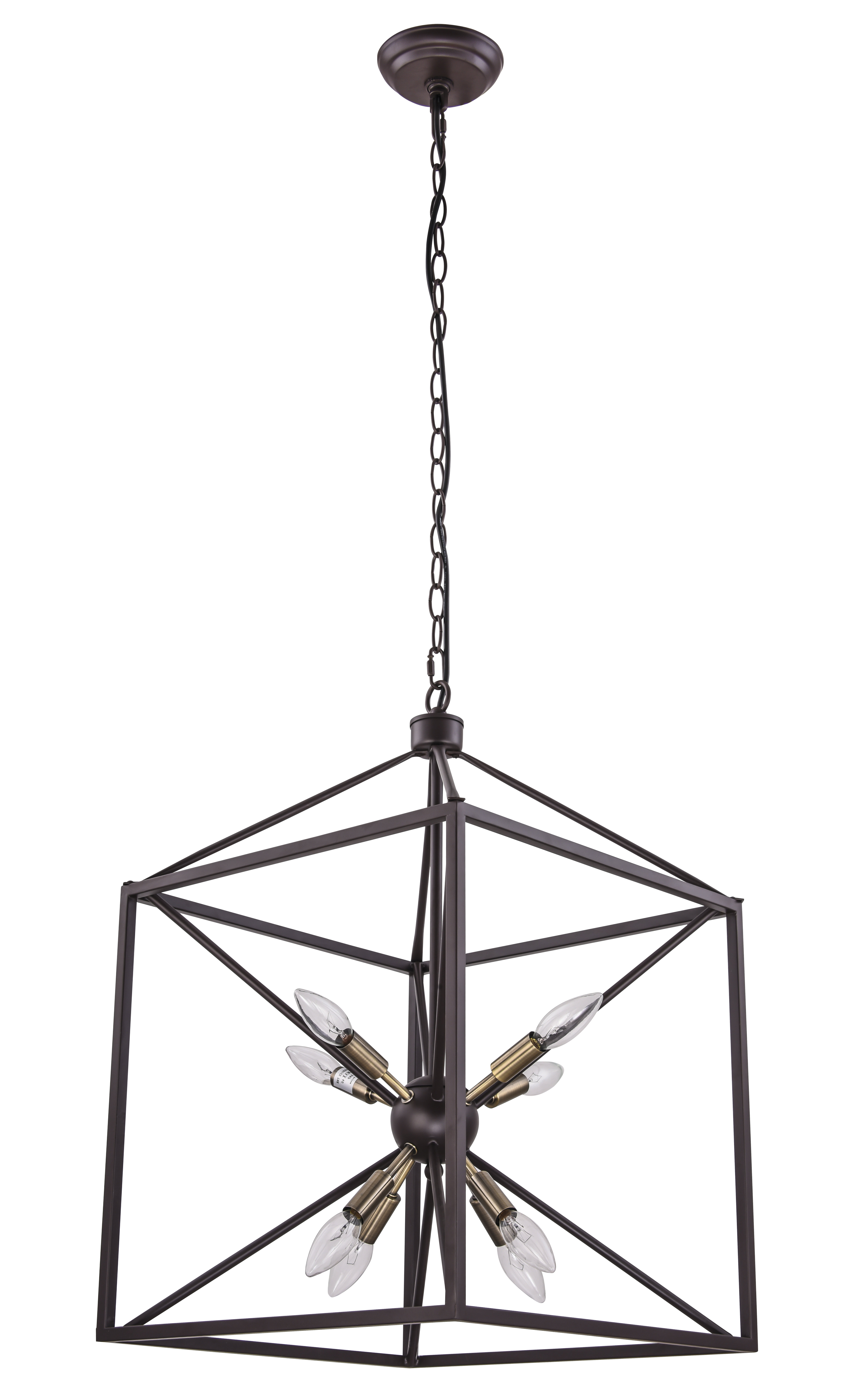 Well Known Odie 8 Light Lantern Square / Rectangle Pendants For Weeden 8 Light Lantern Square / Rectangle Pendant (View 17 of 25)