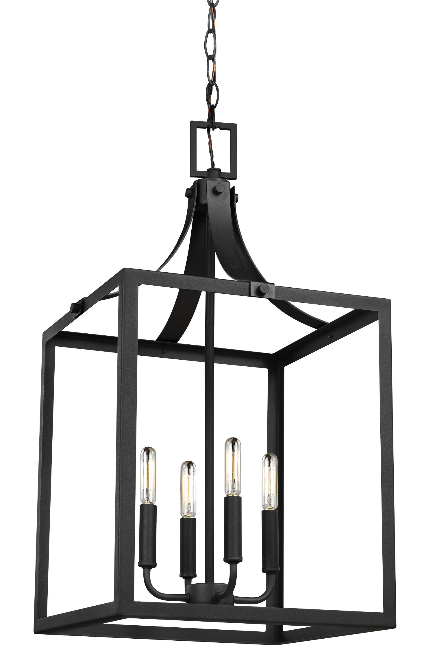 Well Known Odie 8 Light Lantern Square / Rectangle Pendants With Gracie Oaks Sherri Ann 4 Light Lantern Square / Rectangle Pendant (View 23 of 25)