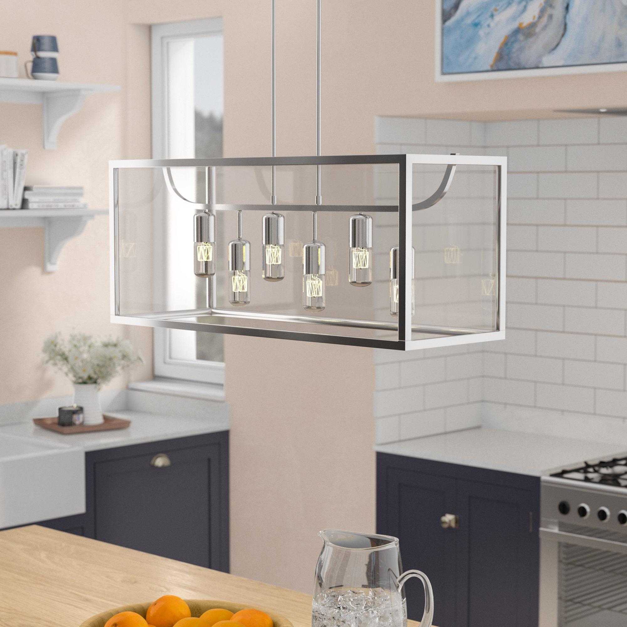 Well Known Pennington 6 Light Kitchen Island Rectangle Pendant For Odie 8 Light Kitchen Island Square / Rectangle Pendants (View 22 of 25)