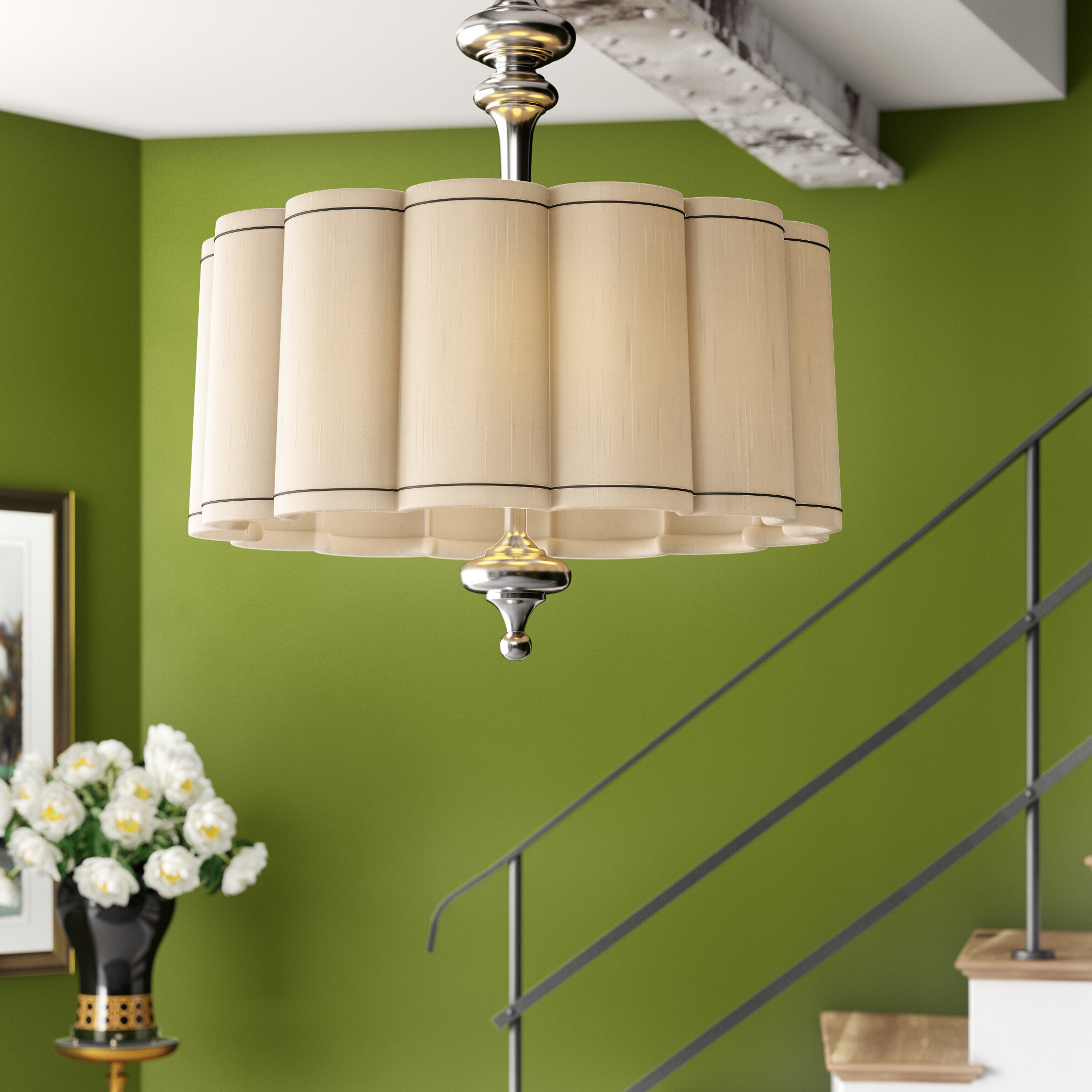 Well Known Rockland 4 Light Geometric Pendants Pertaining To Fluted 4 Light Pendant (View 24 of 25)