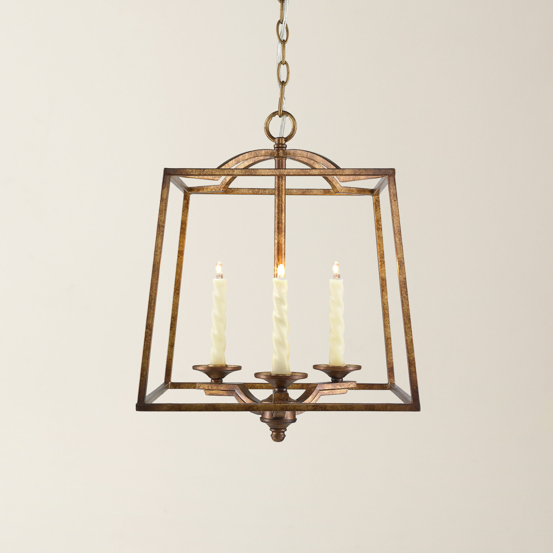 Well Known Senter 3 Light Steel Lantern Pendant With Leiters 3 Light Lantern Geometric Pendants (View 6 of 25)