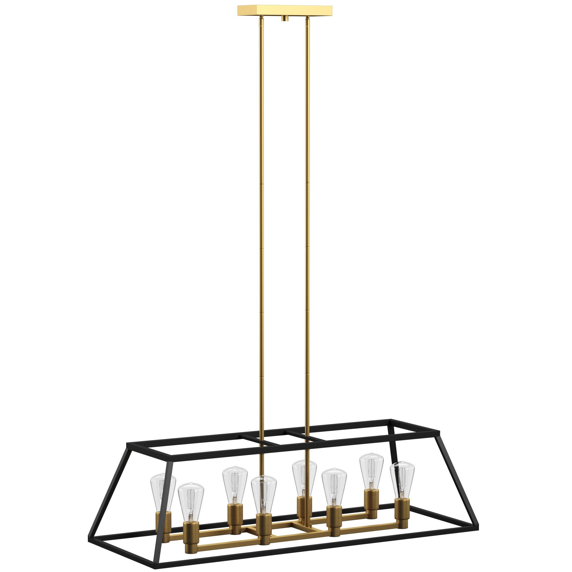 Well Known Shisler 8 Light Kitchen Island Linear Pendant Throughout Jefferson 4 Light Kitchen Island Linear Pendants (View 23 of 25)