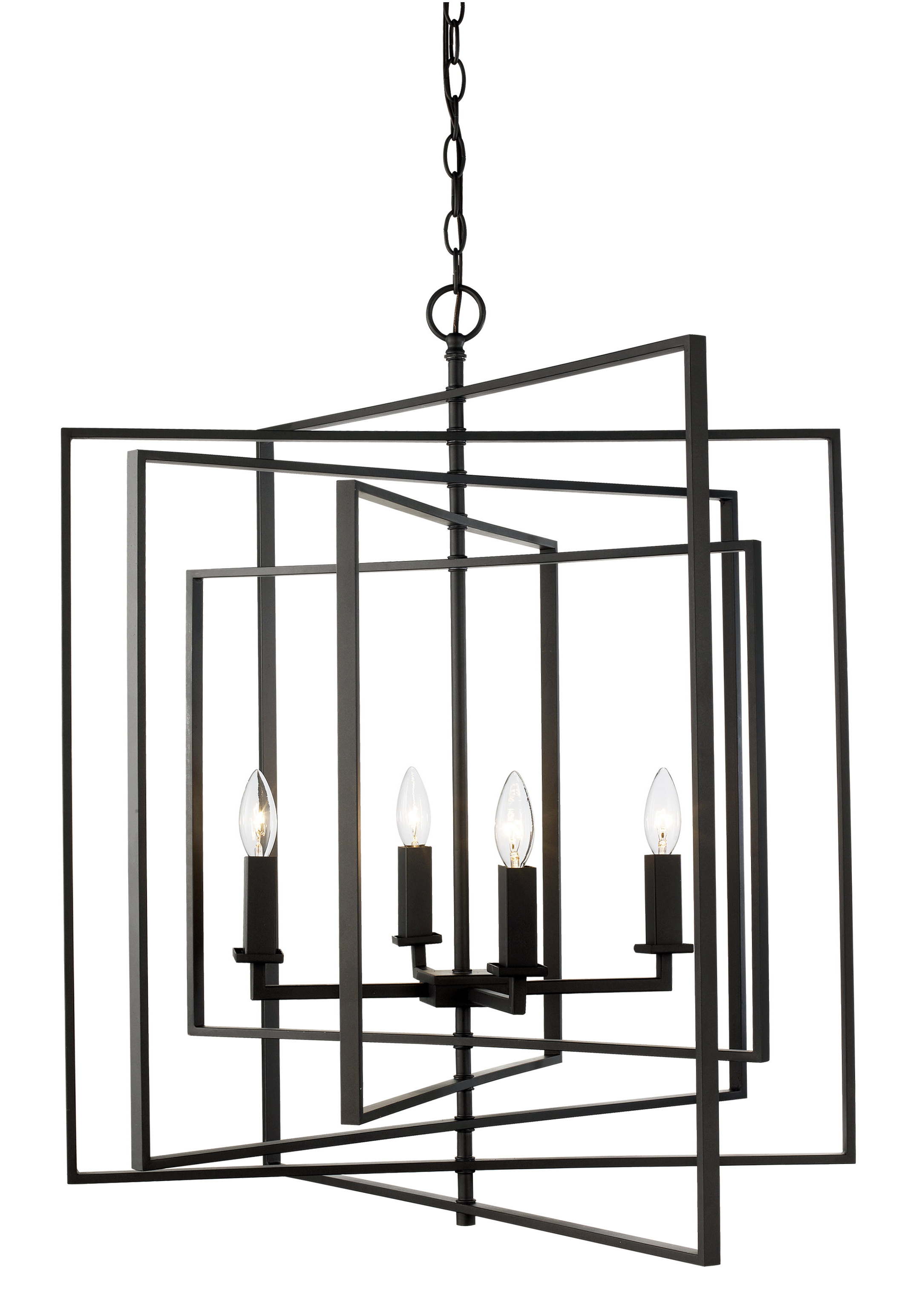 Well Known Yarnell 4 Light Square/rectangle Chandelier Inside 4 Light Lantern Square / Rectangle Pendants (View 23 of 25)