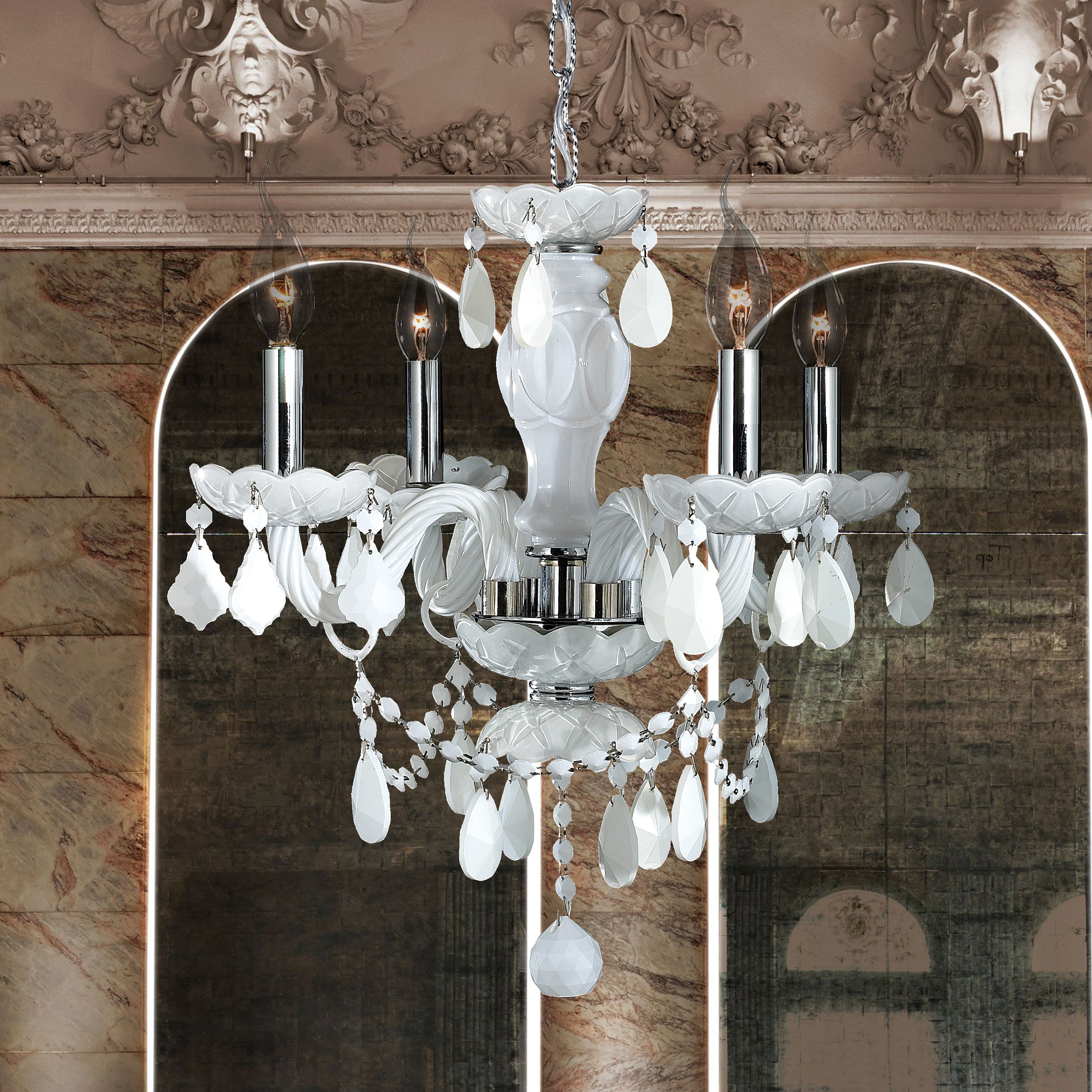 Well Liked Aldora 4 Light Candle Style Chandeliers Inside Doggett 4 Light Candle Style Chandelier (View 16 of 25)