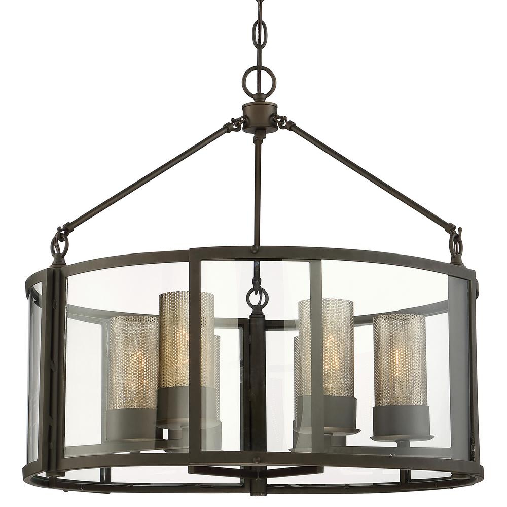 Well Liked Burton 5 Light Drum Chandeliers Intended For Varaluz Jackson 6 Light Rustic Bronze Drum Pendant (View 21 of 25)