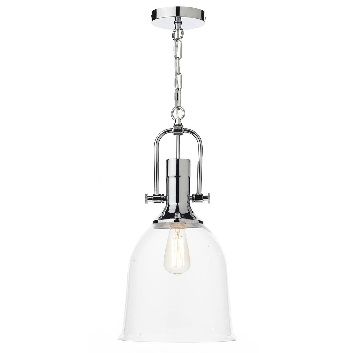 Well Liked Dar Nolan 1 Light Pendant Polished Chrome Within Nolan 1 Light Lantern Chandeliers (View 7 of 25)