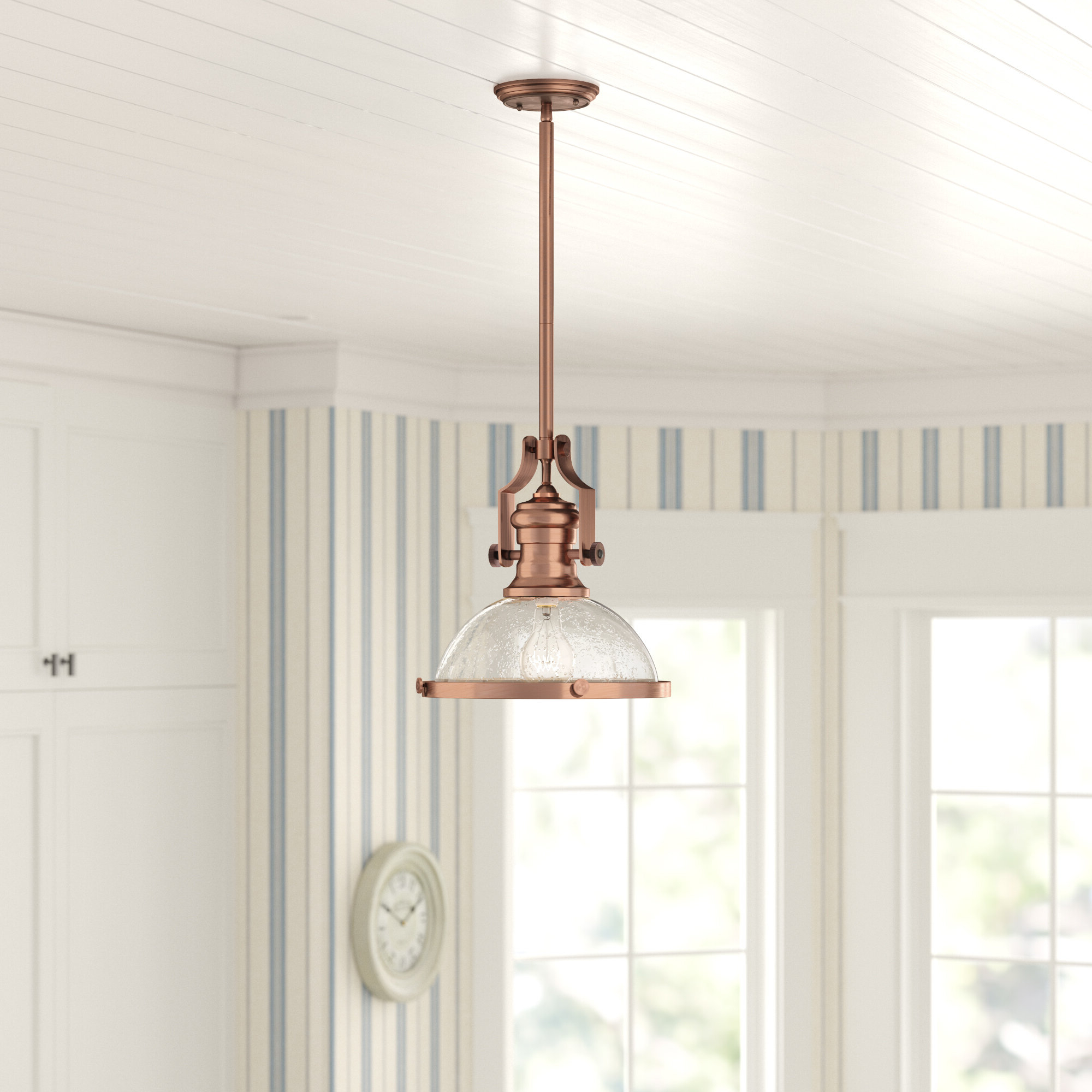 Well Liked Erico 1 Light Single Bell Pendants With Regard To Priston 1 Light Single Dome Pendant (View 12 of 25)