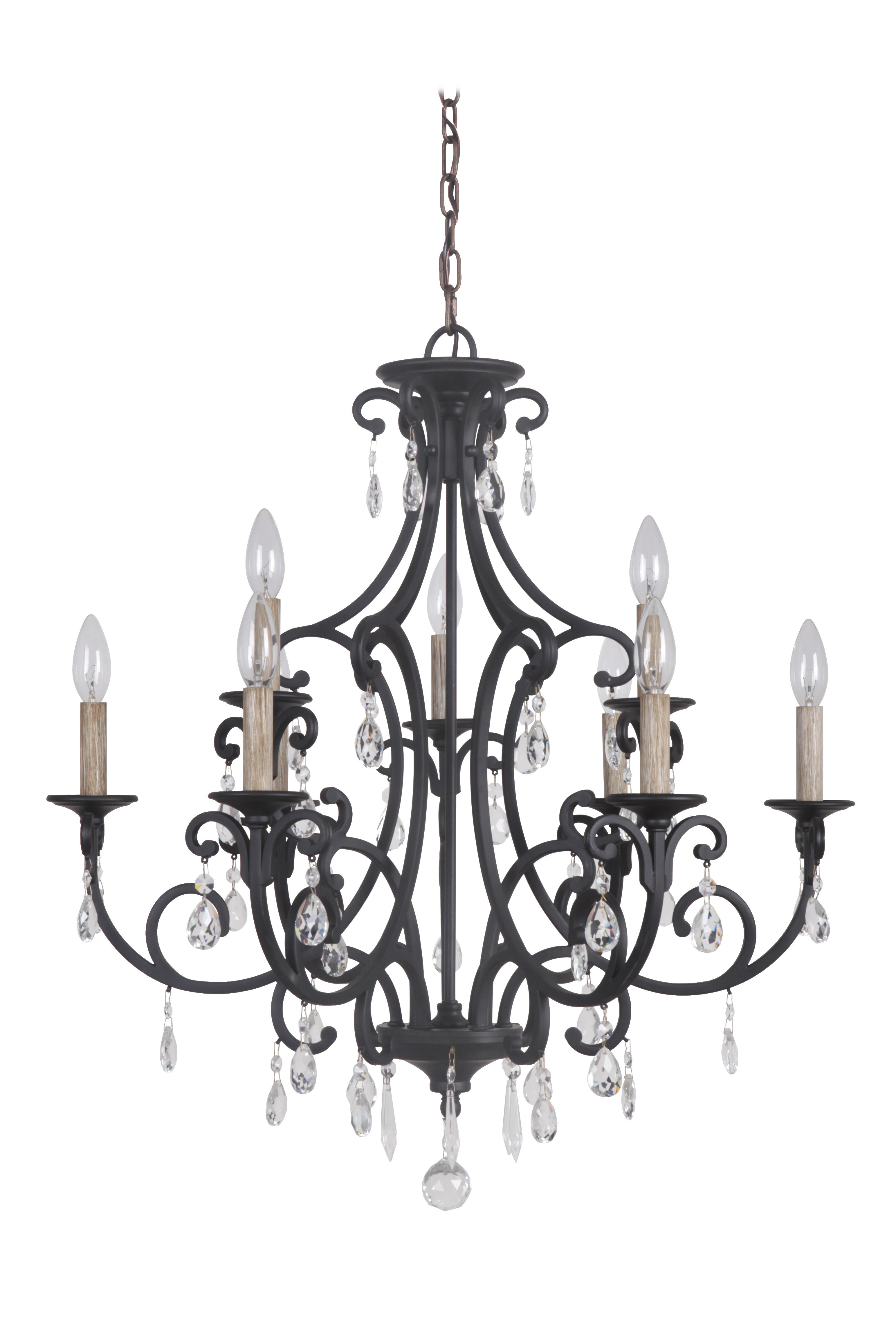 Well Liked Gaines 9 Light Candle Style Chandeliers With Vanderbilt 9 Light Candle Style Chandelier (View 23 of 25)