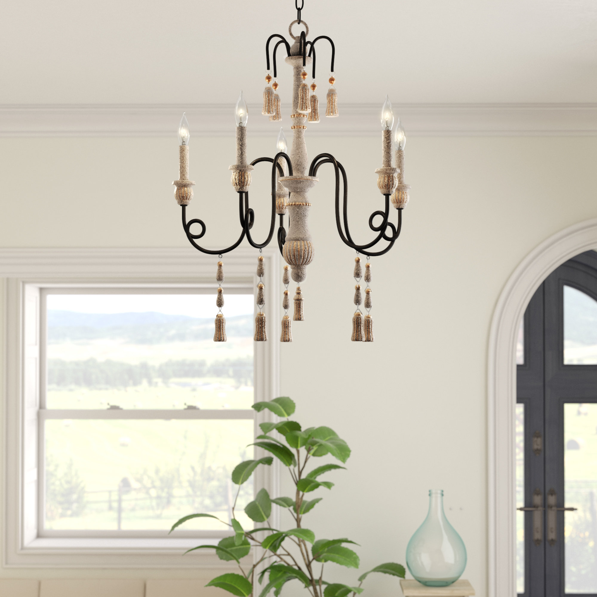 Well Liked Hassan 5 Light Candle Style Chandelier Regarding Corneau 5 Light Chandeliers (View 14 of 25)