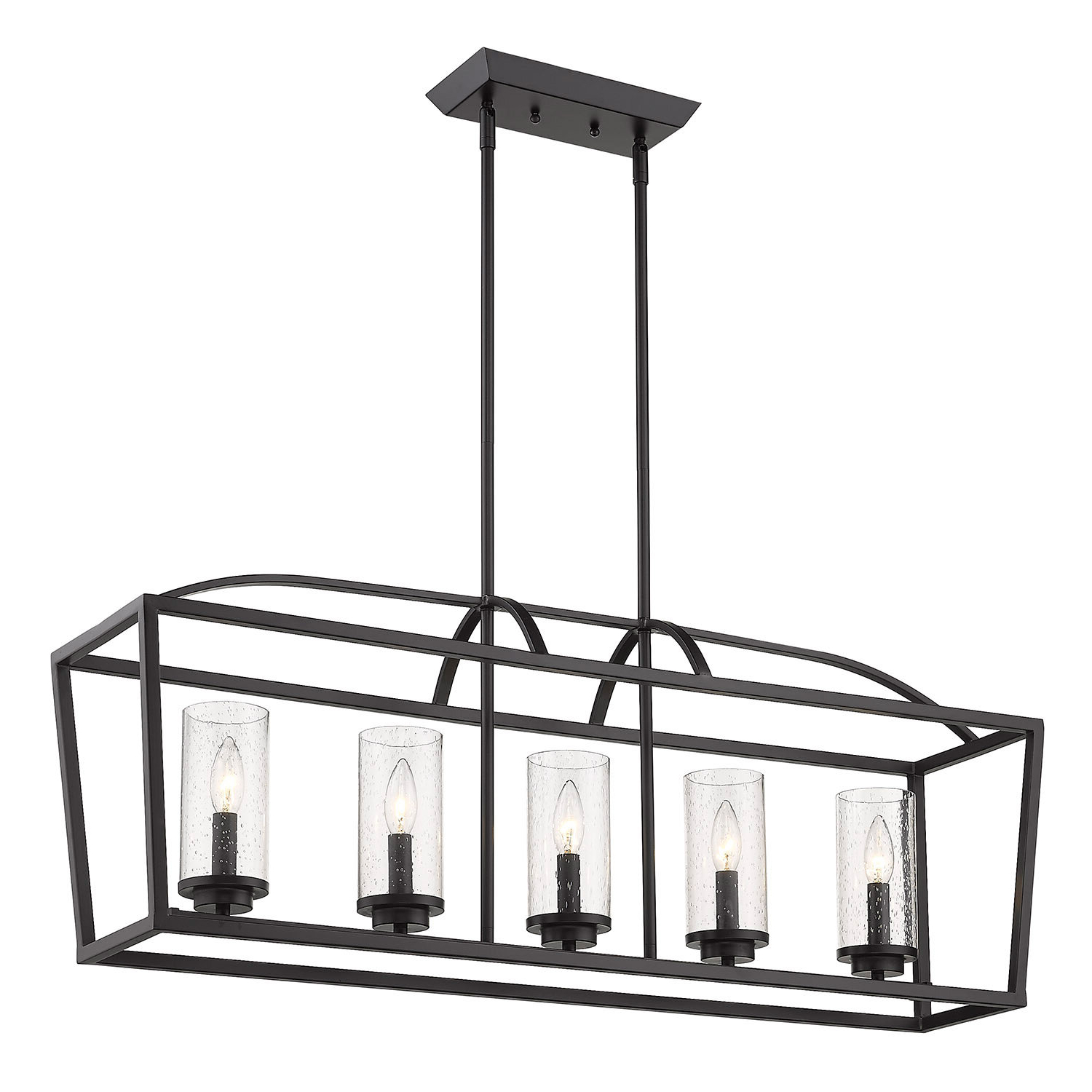 Well Liked Luna 5 Light Kitchen Island Linear Pendant In Carmen 6 Light Kitchen Island Linear Pendants (View 13 of 25)