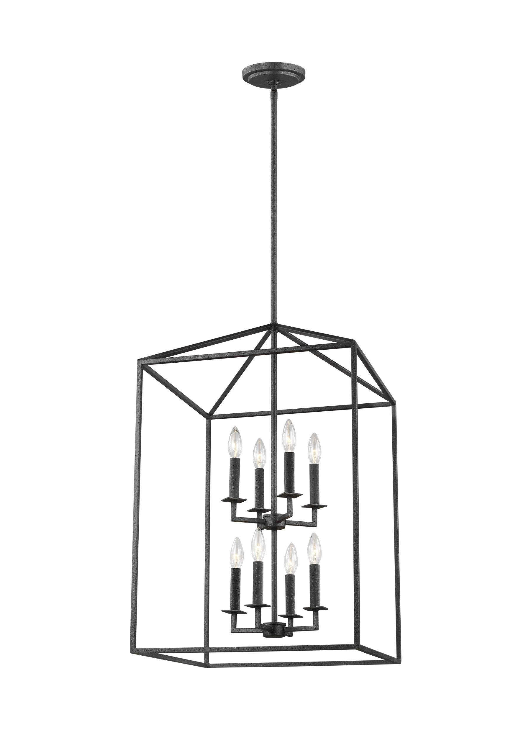 Well Liked Odie 4 Light Lantern Square Pendants Regarding Odie 8 Light Lantern Square / Rectangle Pendant (View 8 of 25)