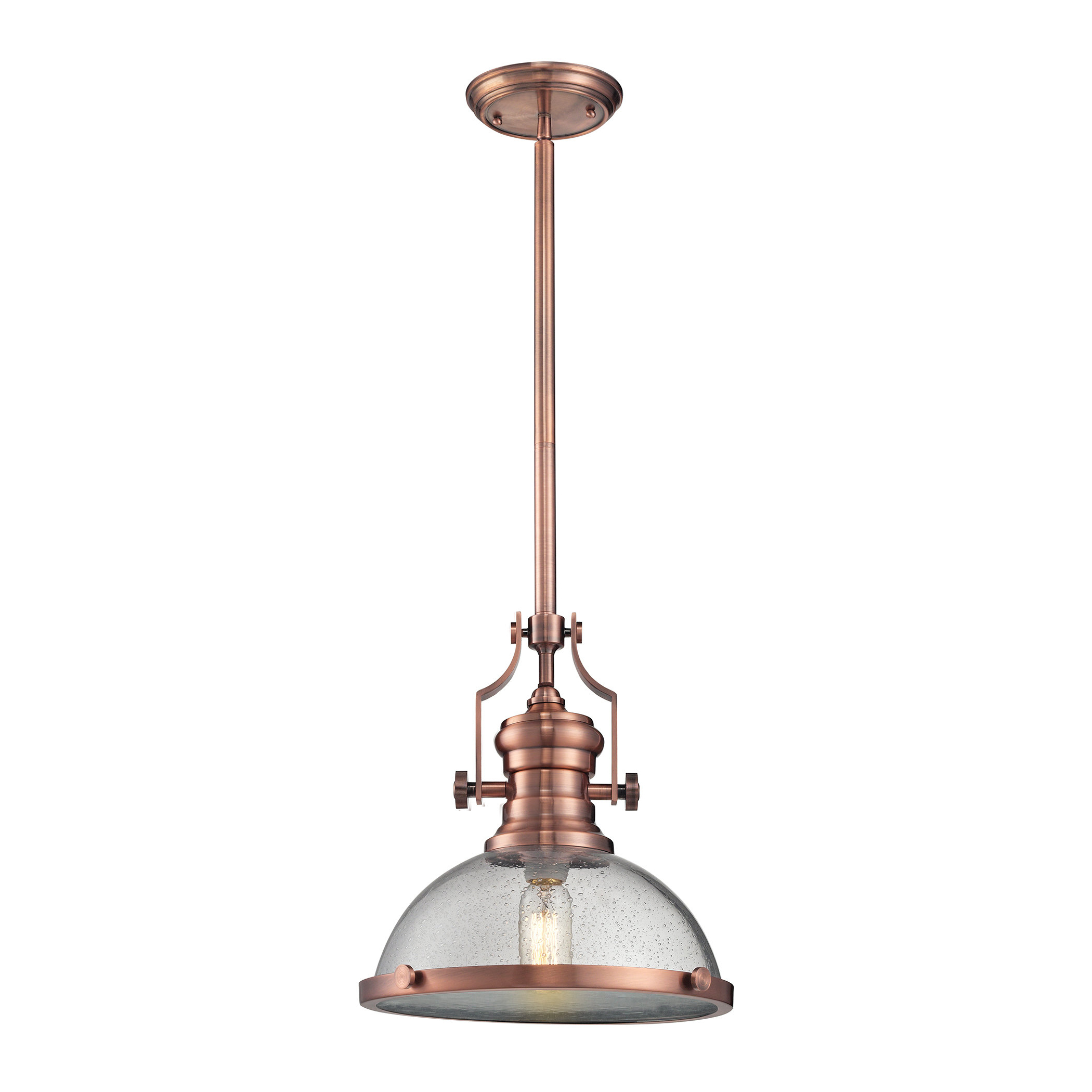 Well Liked Priston 1 Light Single Dome Pendant Within Erico 1 Light Single Bell Pendants (View 13 of 25)