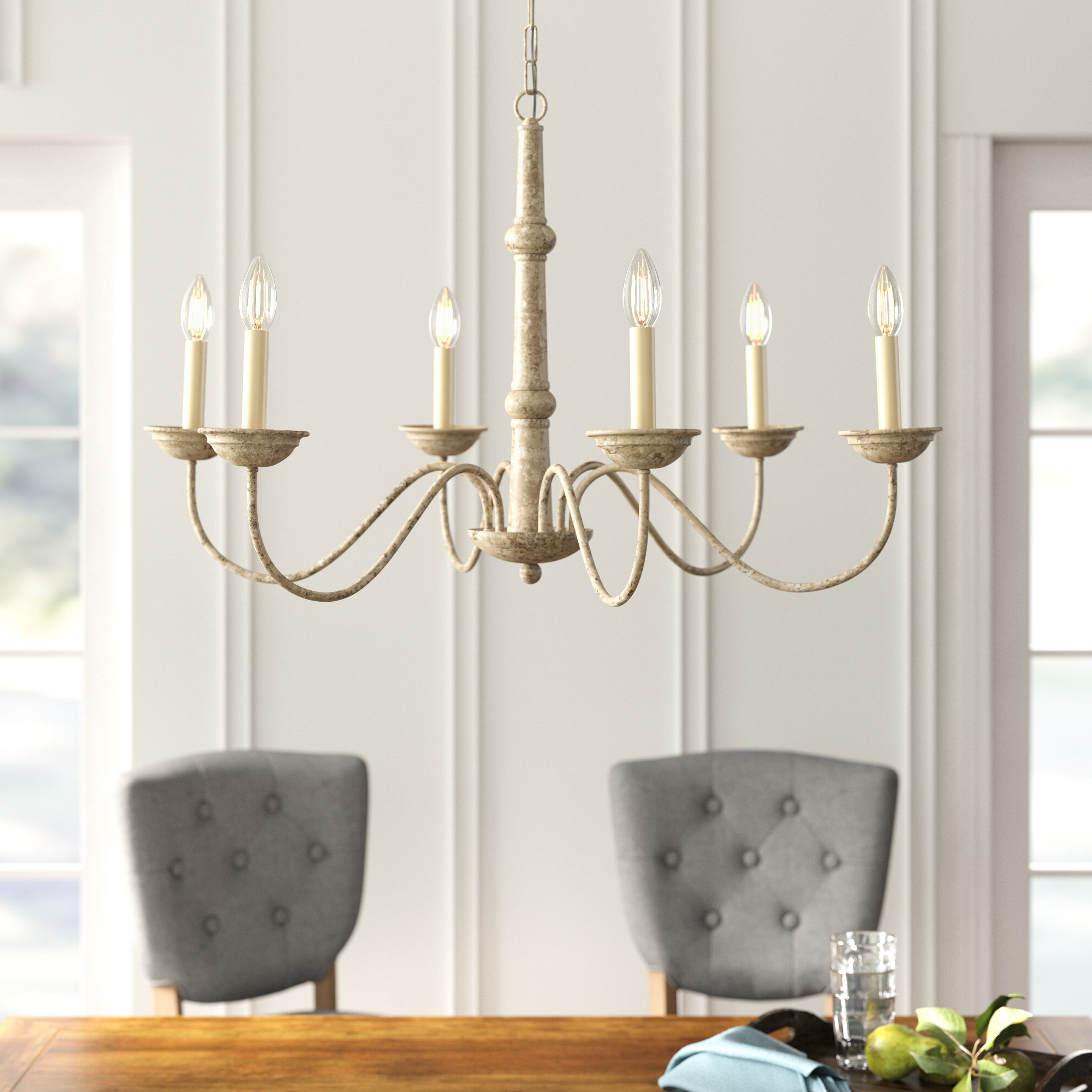 Well Liked Seneca 6 Light Candle Style Chandelier For Shaylee 5 Light Candle Style Chandeliers (View 25 of 25)