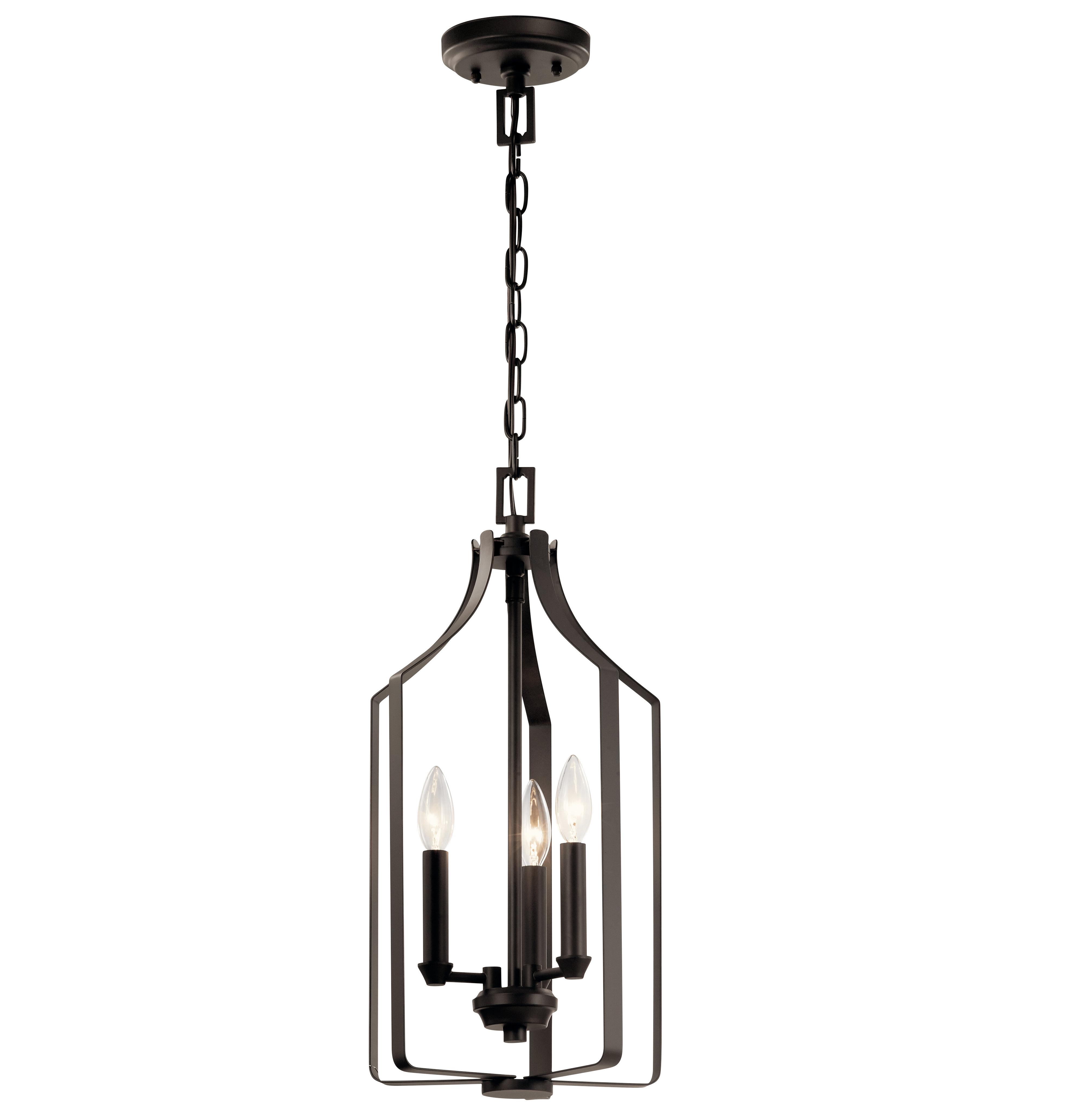 Well Liked Sherri Ann 3 Light Lantern Square / Rectangle Pendants Regarding Merkel Indoor 3 Light Lantern Pendant (View 23 of 25)
